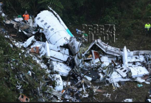 A Plane Crash Carrying the Brazilian Soccer Team