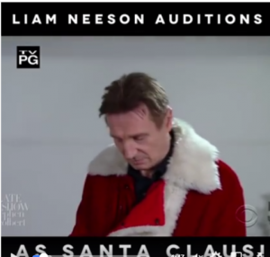 Actor Leam Neeson Auditioning for Santa Claus Role