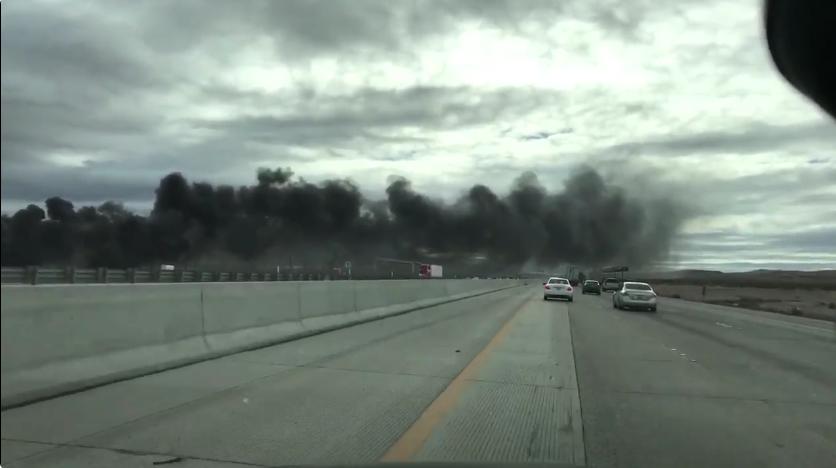 A Fiery Crash at SPEEDVEGAS