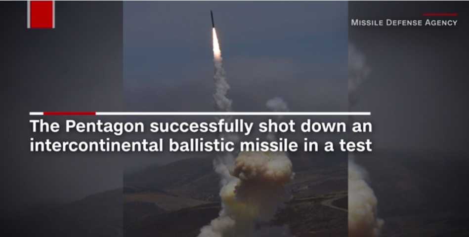 Pentagon Successfully Shot Down An Intercontinental Ballistic Missile In A Test 380 Hits