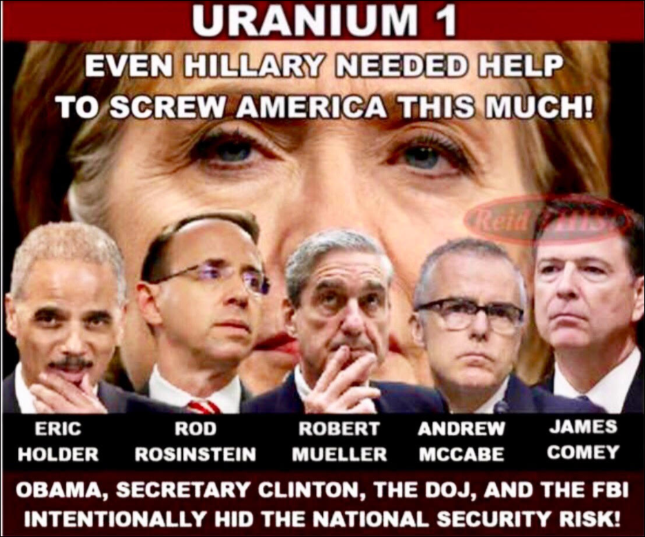 Uranium One Scandal ~ Trump Dossier 1472 Views