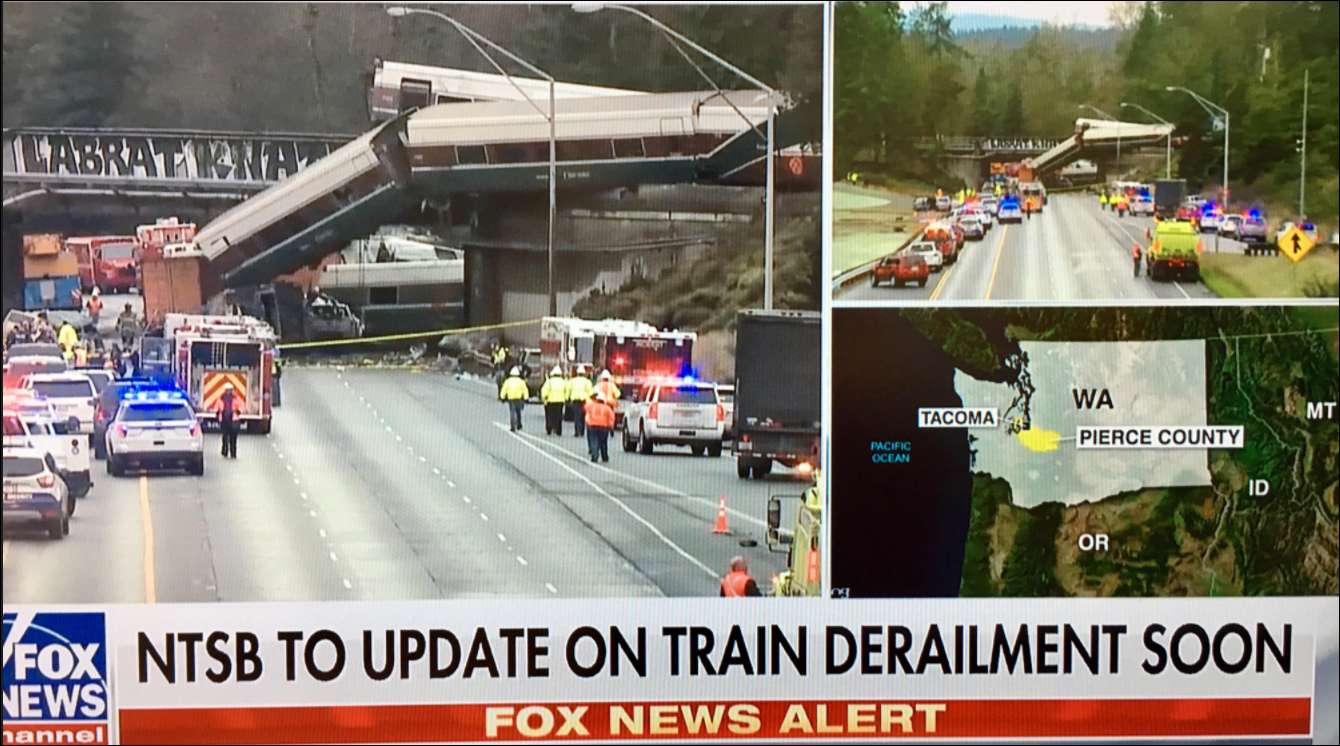 Amtrak Train Derailment in DuPont, Washington 539 Views