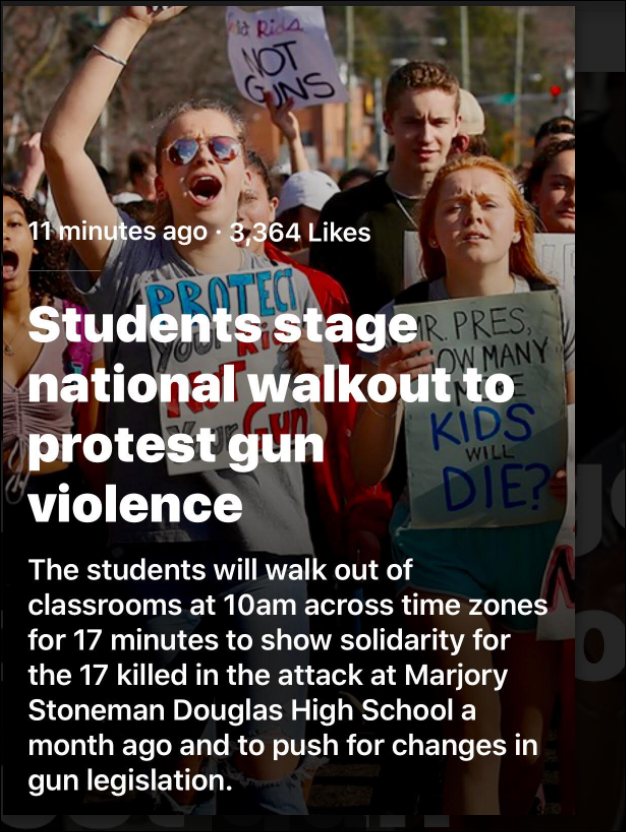 Students Staged Walkout Today. Seven Measures Congress Could Pass to Reduce & Prevent School Shootings. 935 Views