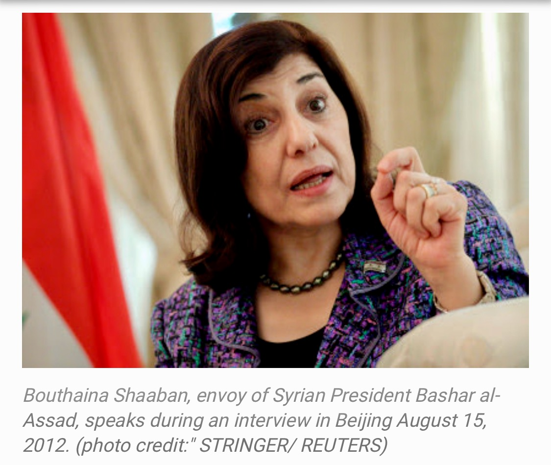 Assad Adviser: Bouthaina Shaaban Syria and Allies Preparing For Possible War 303 Views