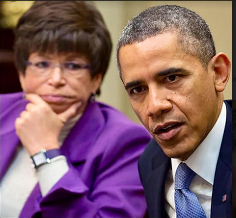 Former President Obama and His Confidant Valerie Jarrett