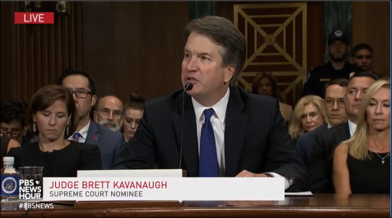 "Judge Brett Kavanaugh said, ""I am innocent of this charge."""