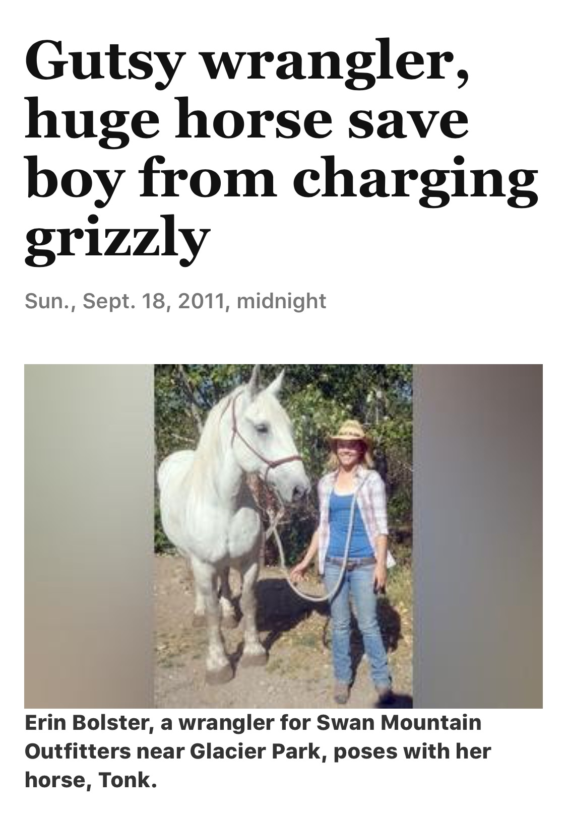Gutsy wrangler, huge horse save boy from charging grizzly | The Spokesman-Review 110 Views
