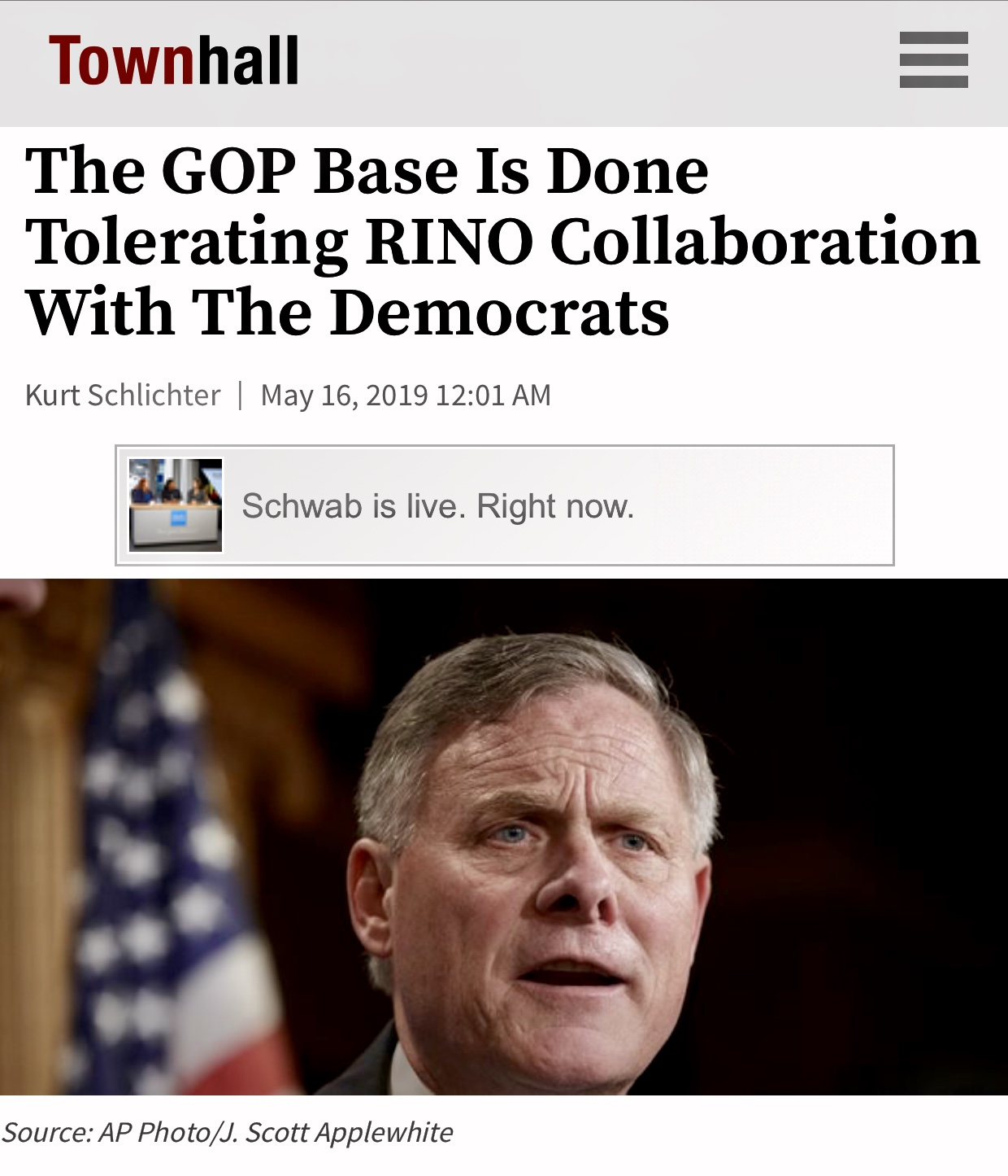 The GOP Base Is Done Tolerating RINO Collaboration With The Democrats