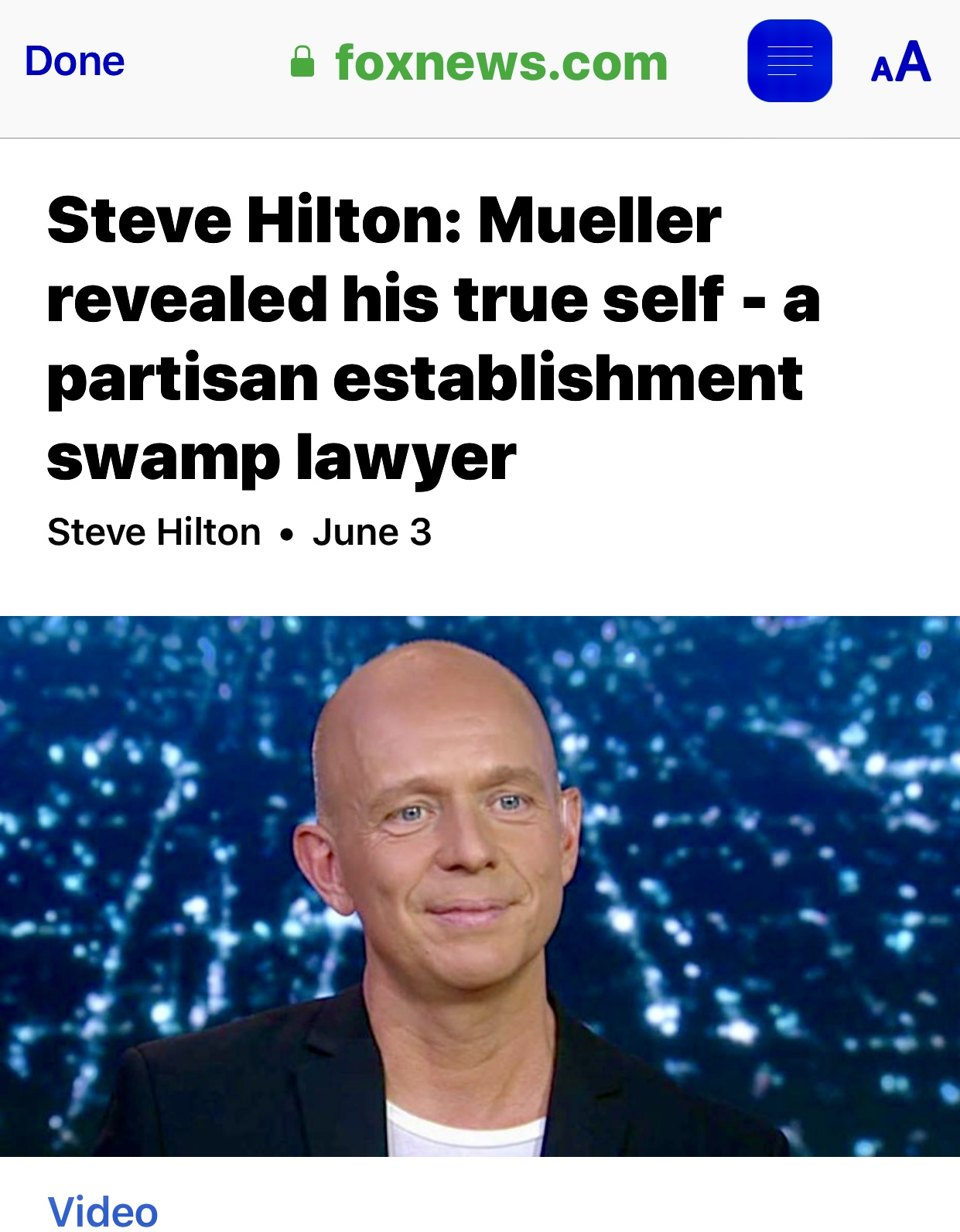 Steve Hilton: Mueller revealed his true self – a partisan establishment swamp lawyer | Fox News