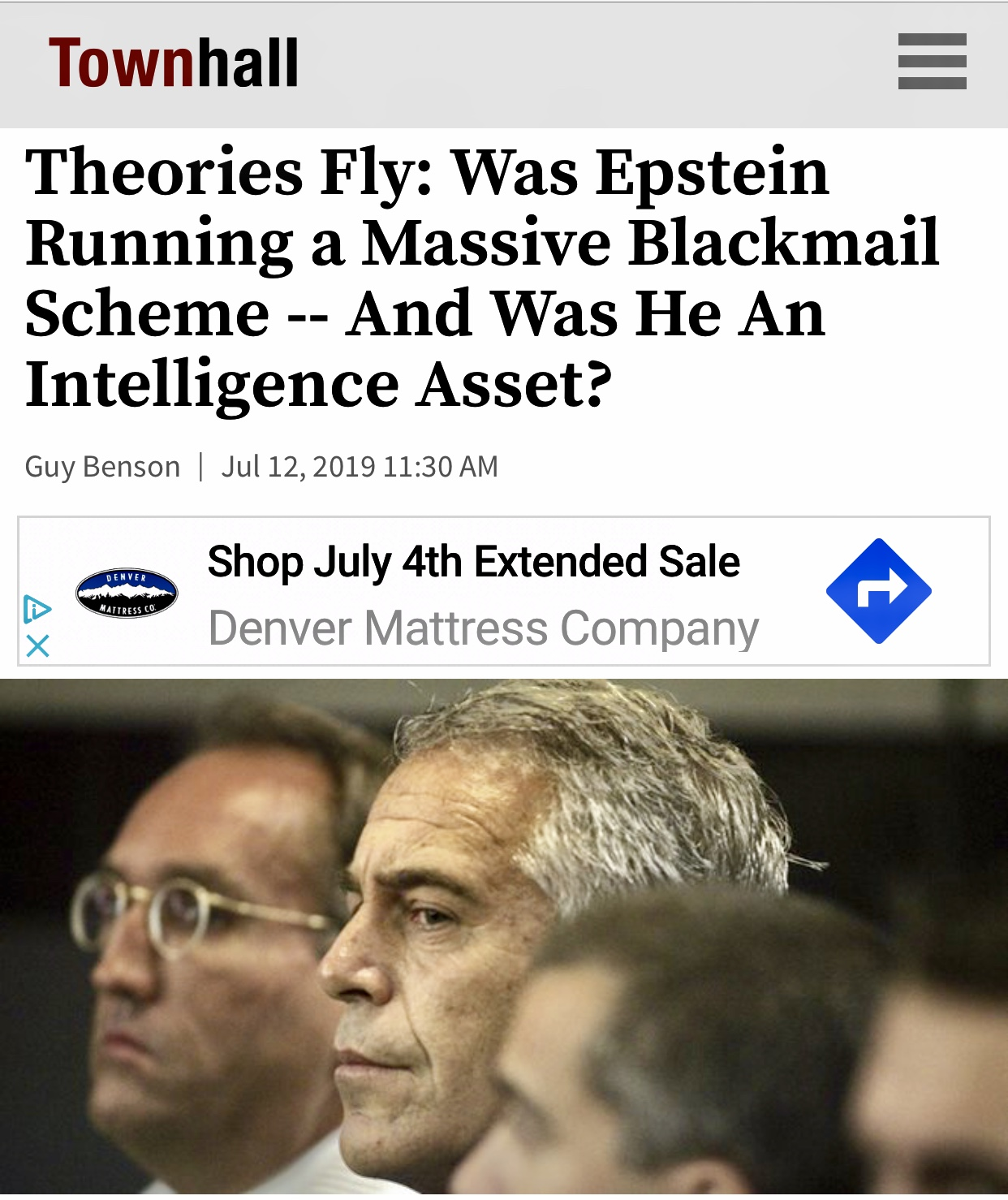 Theories Fly: Was Epstein Running a Massive Blackmail Scheme — And Was He An Intelligence Asset?