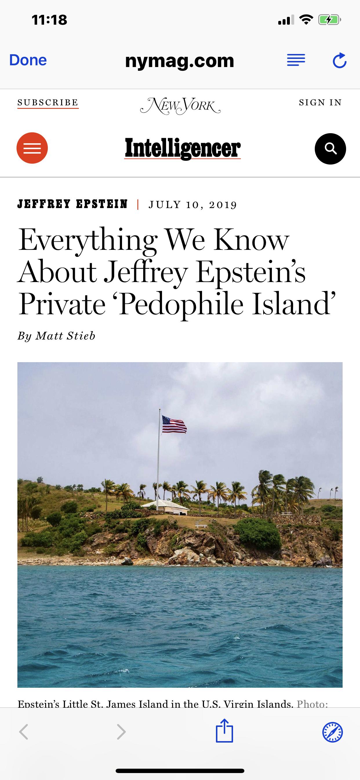 Everything We Know on Jeffrey Epstein's 'Pedophile Island'