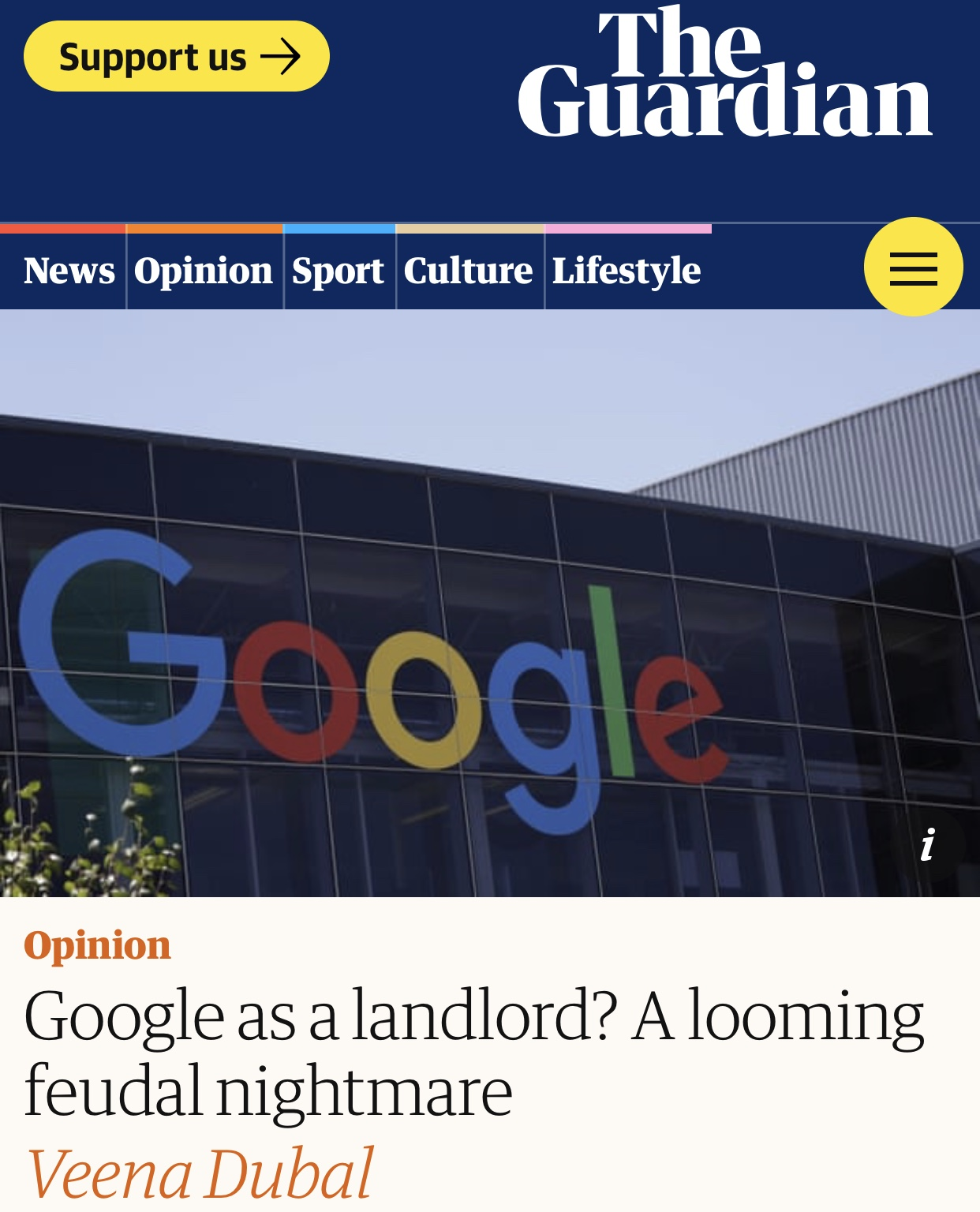 Google as a landlord? A looming feudal nightmare | Google | The Guardian