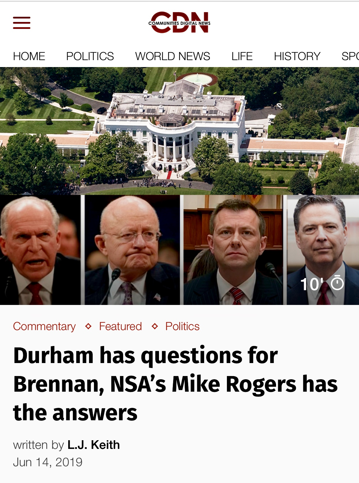 Durham has questions for Brennan, NSA's Mike Rogers has the answers