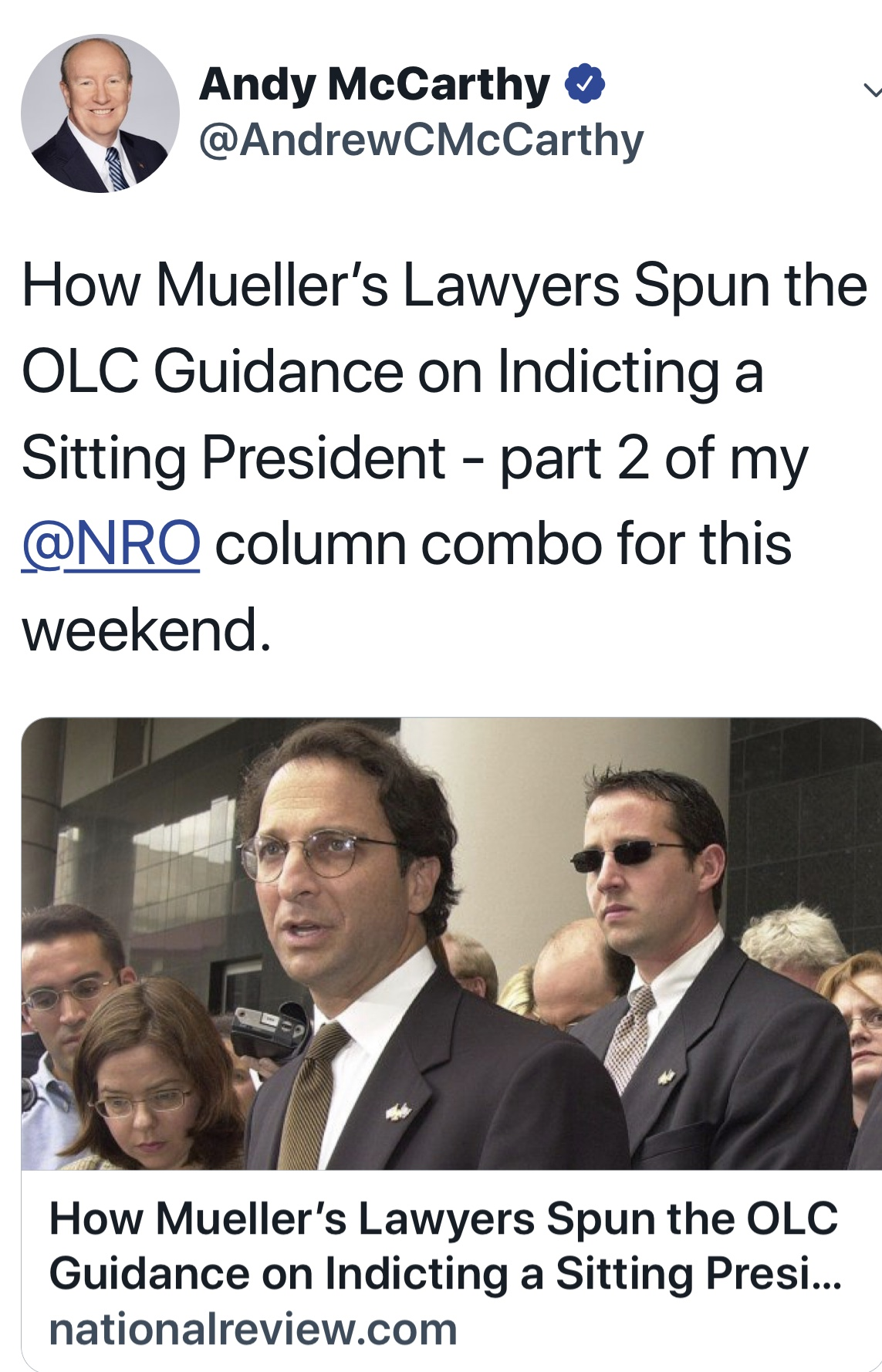 The Department of Justice Office of the Legal Counsel Guidance & No Indictment of a Sitting President: Part Two   National Review