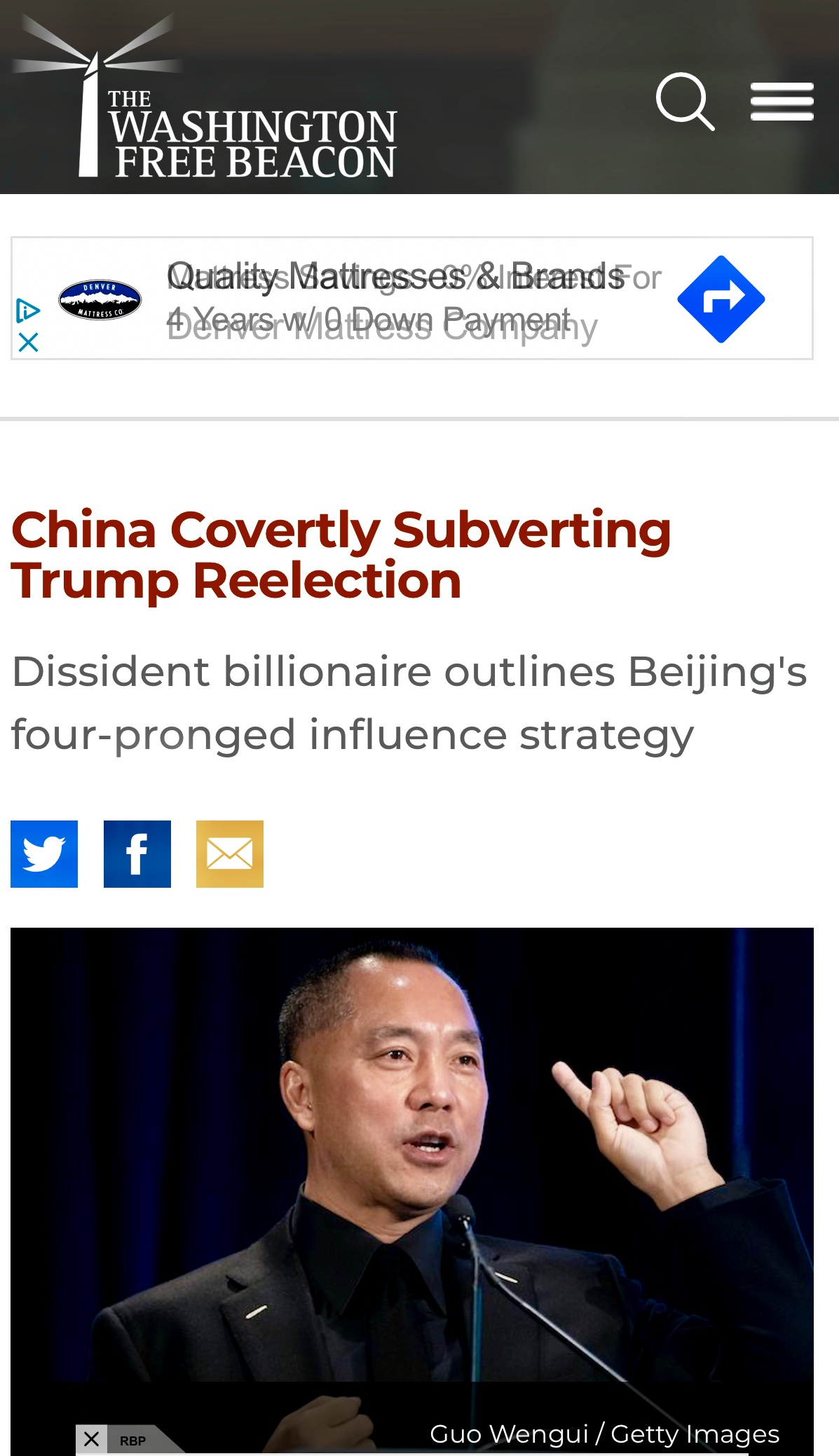 China Covertly Subverting Trump Reelection