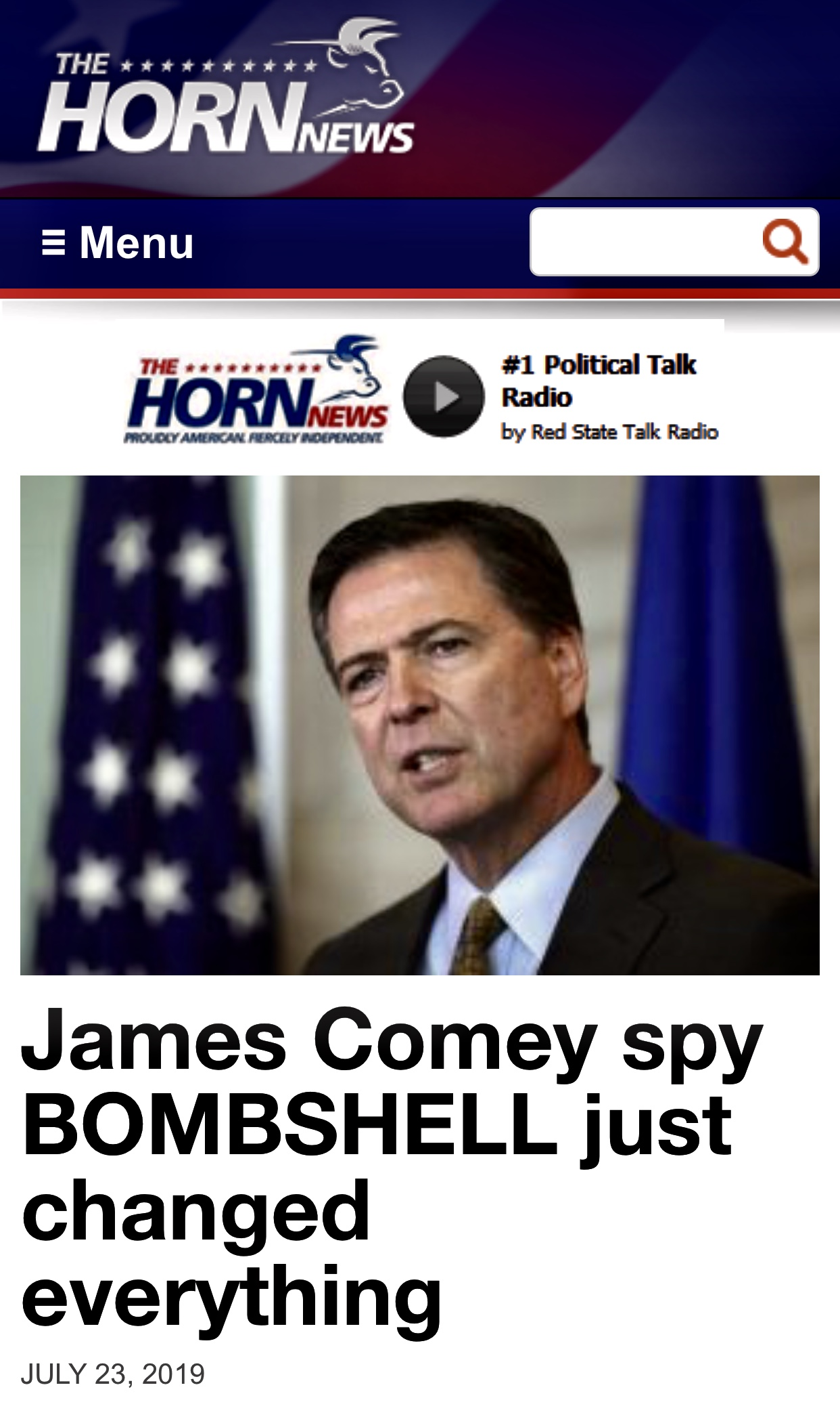 James Comey spy BOMBSHELL just changed everything – The Horn News