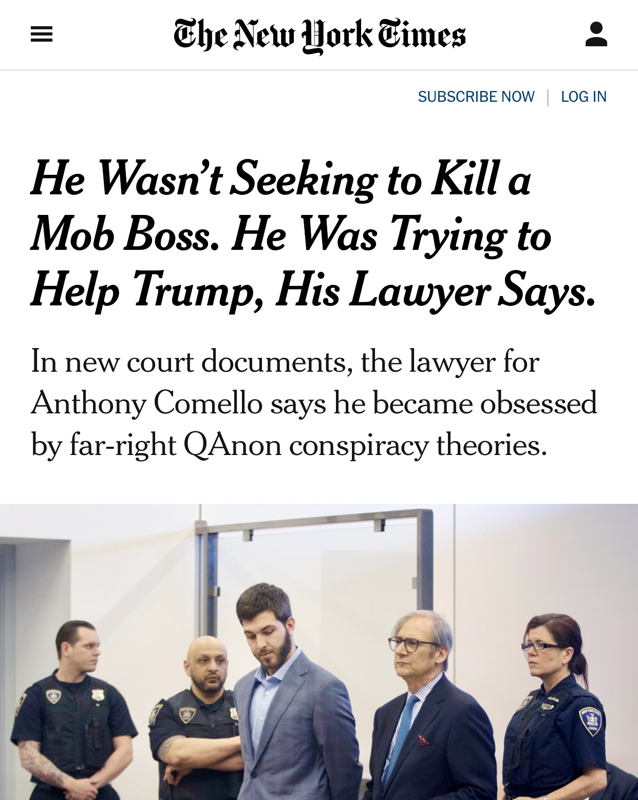 He Wasn't Seeking to Kill a Mob Boss. He Was Trying to Help Trump, His Lawyer Says. – The New York Times