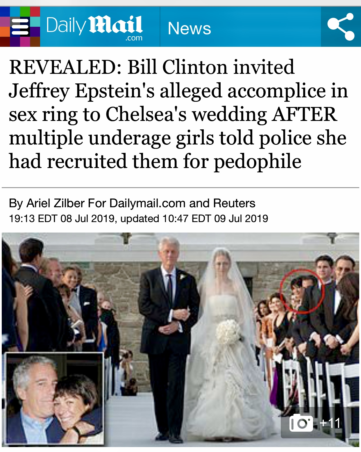 Bill Clinton insists he had no idea about Jeffrey Epstein's 'terrible crimes' | Daily Mail Online