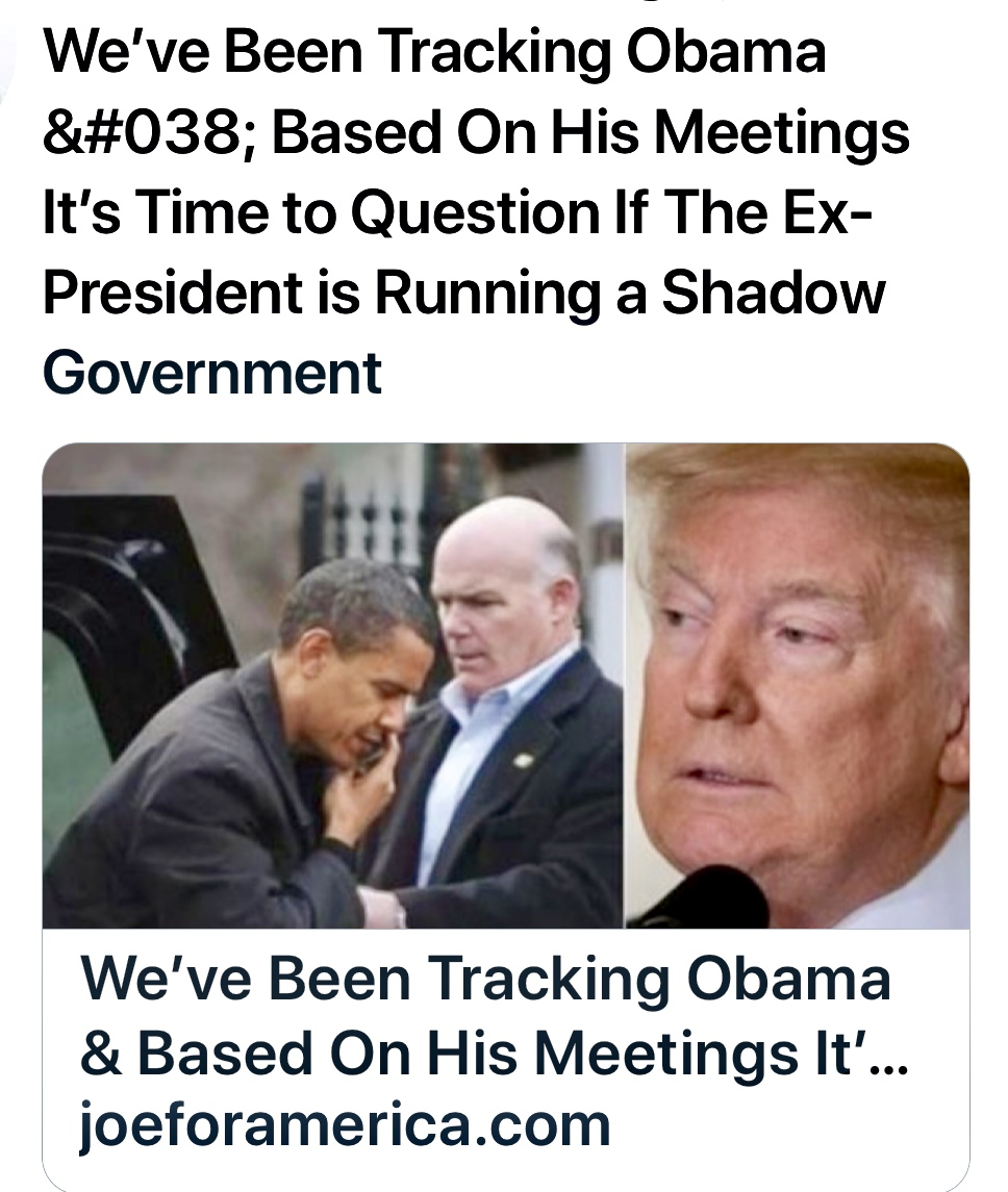We've Been Tracking Obama & Based On His Meetings It's Time to Question If The Ex-President is Running a Shadow Government ⋆ Joe For America