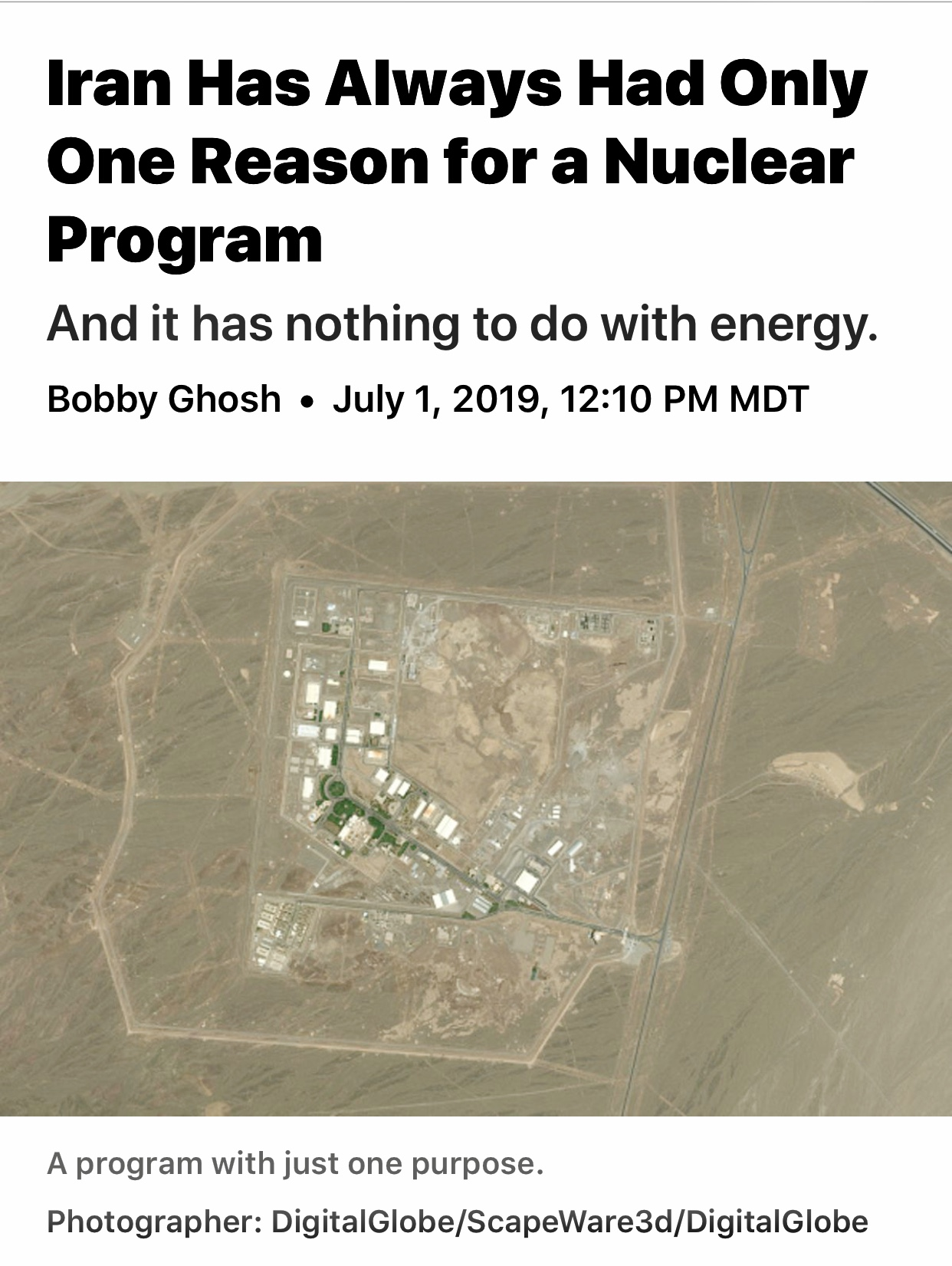 Iran's Uranium Limit Breach Is Reminder of Its Nuclear Bomb Goals – Bloomberg