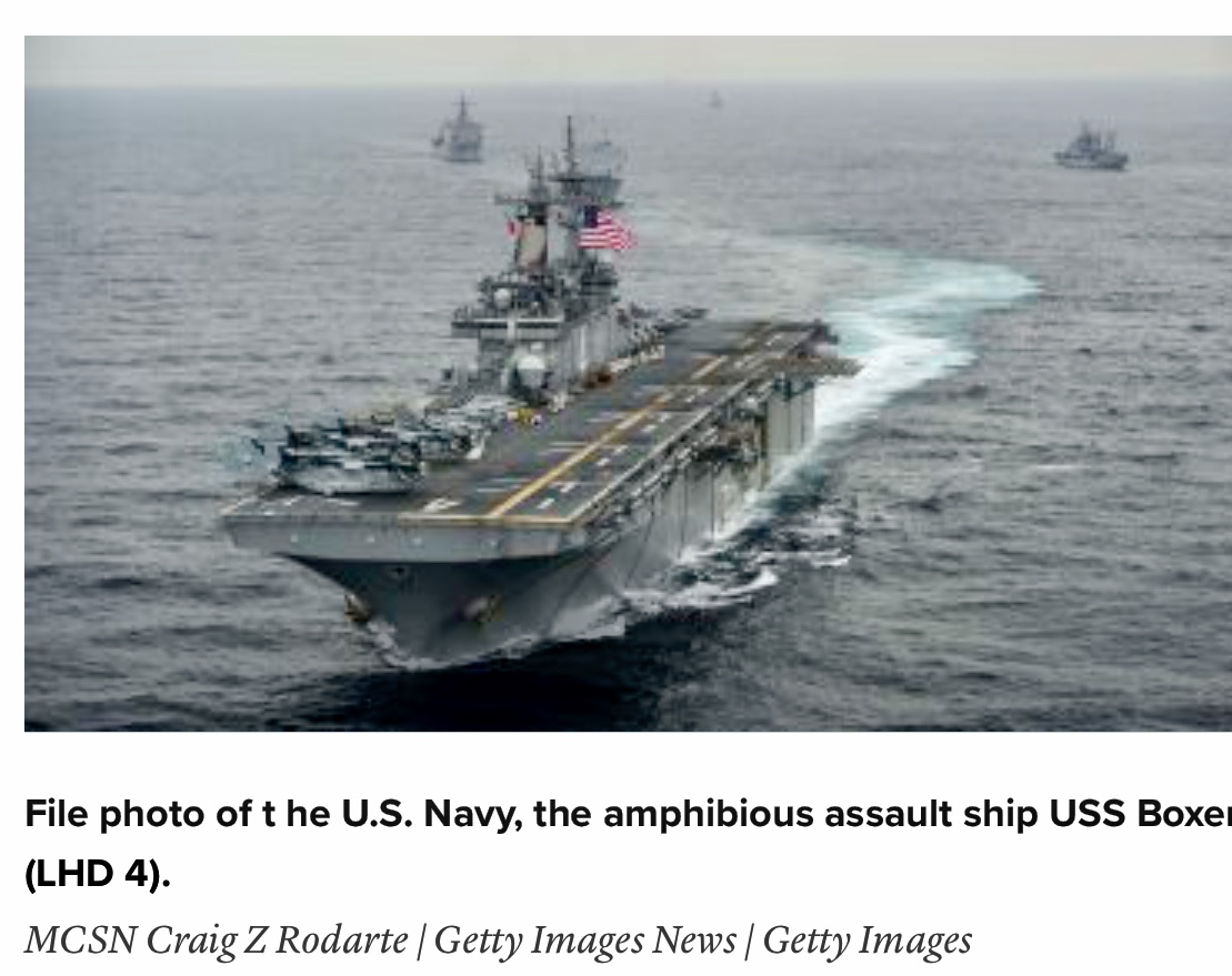Breaking News President Trump says US Navy shot down Iranian drone