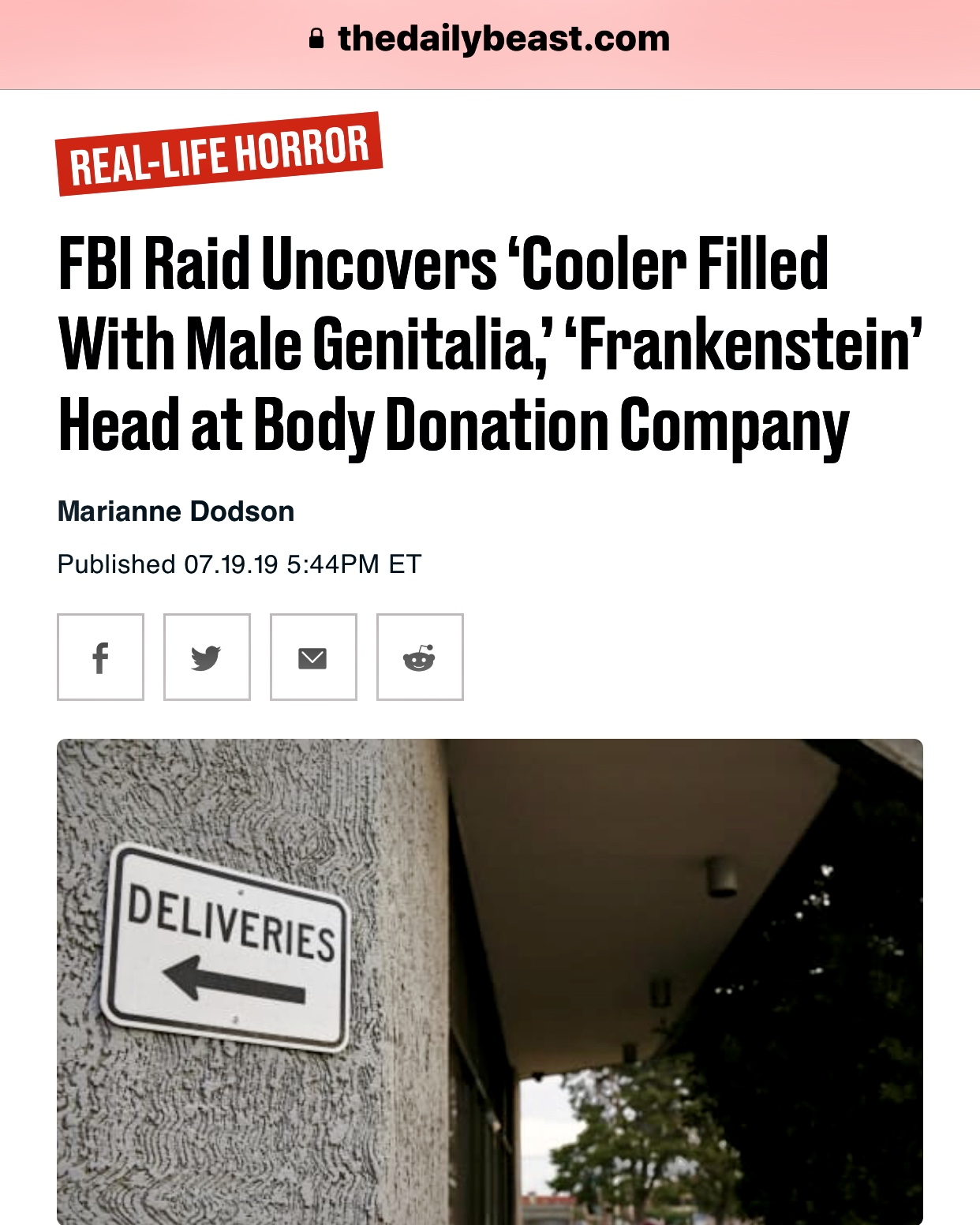 Horror of Horrors FBI Raid Uncovers ~ Cooler Filled With Male Genitalia