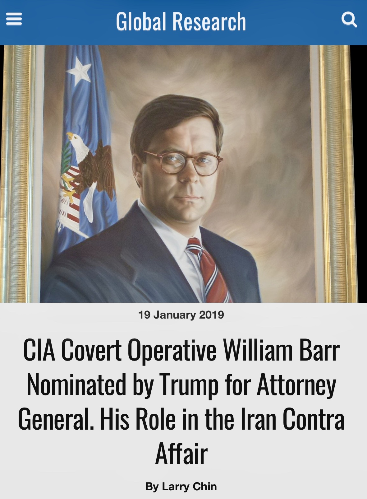 ‪CIA Covert Operative Barr Nominated for Attorney General‬