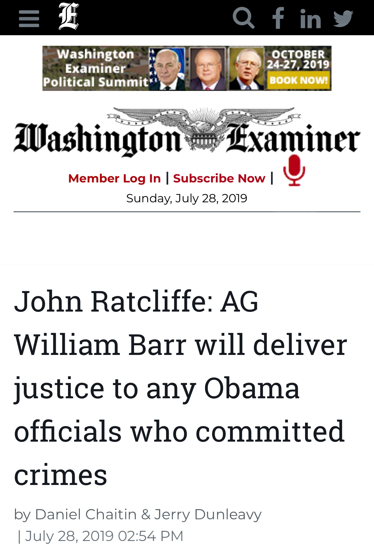 John Ratcliffe: AG William Barr will deliver justice to any Obama officials who committed crimes