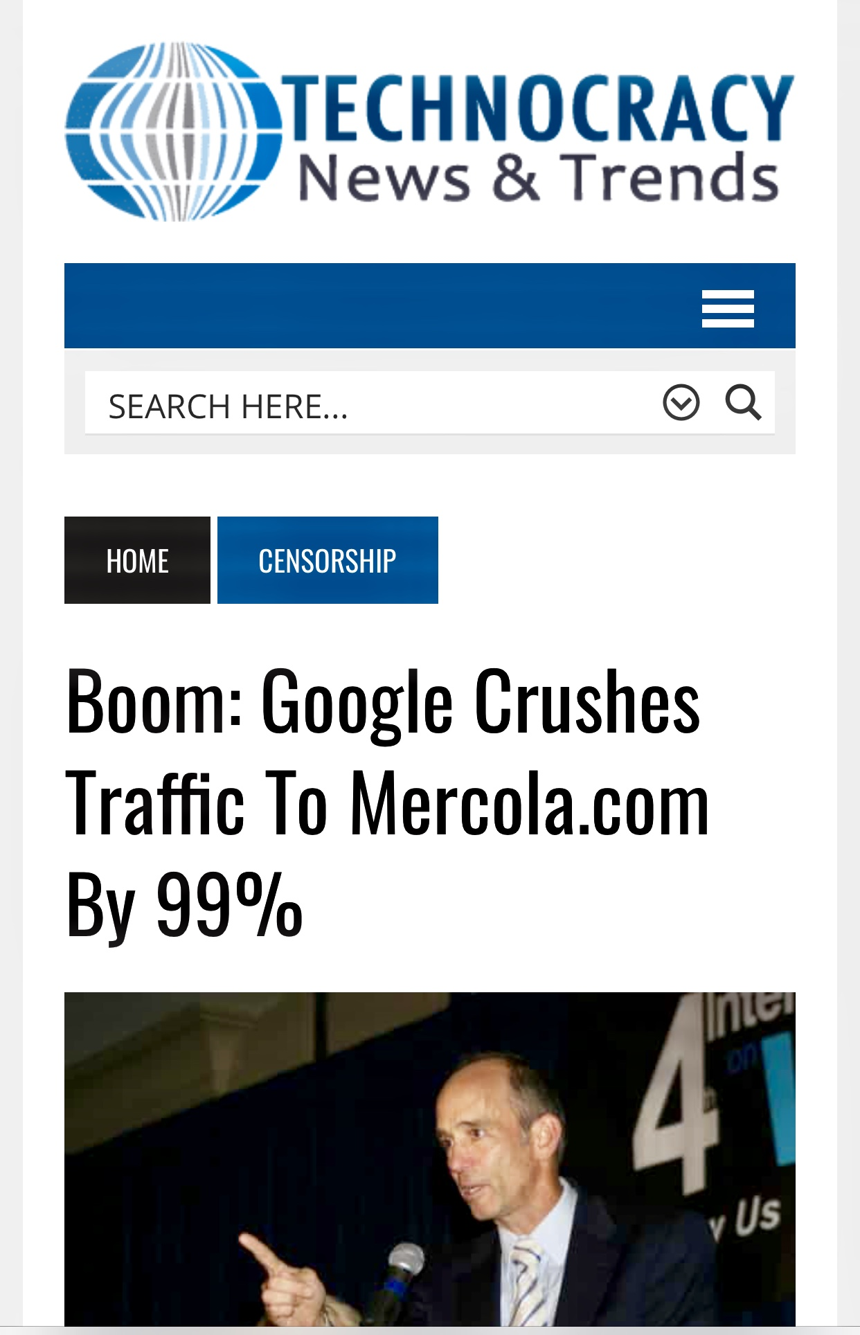 Google Crushes Traffic To Mercola.com By 99%