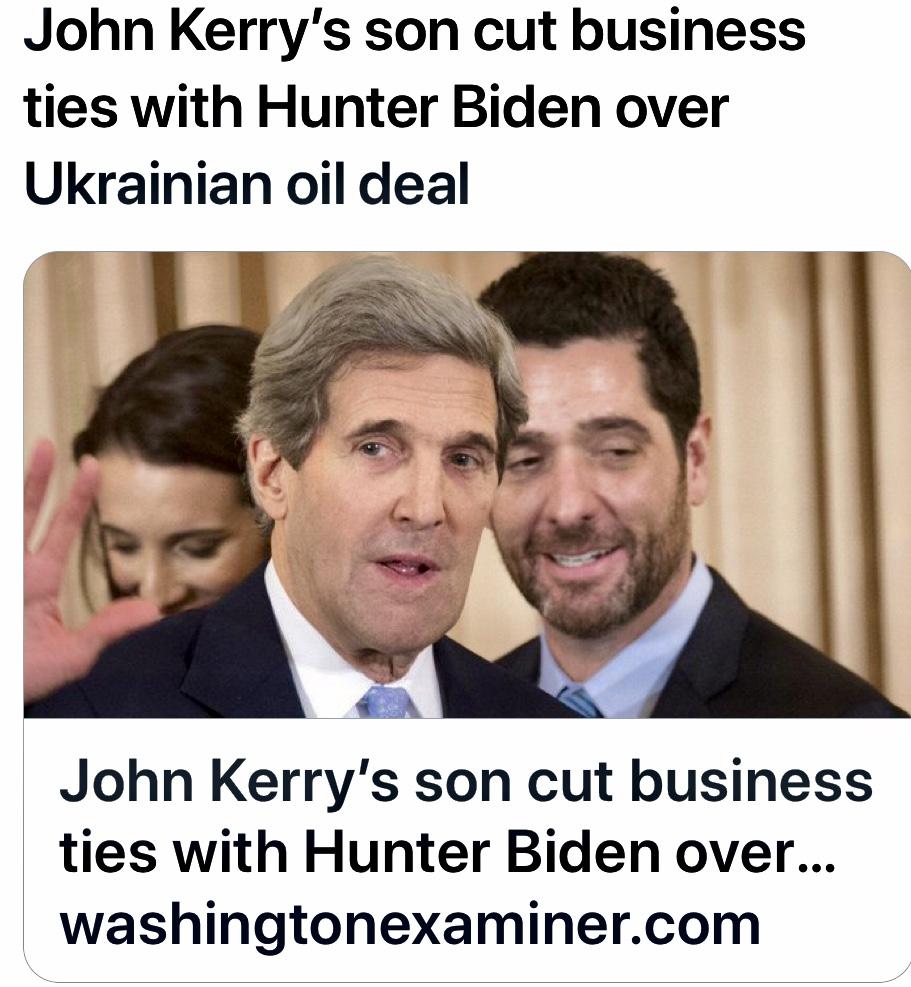 John Kerry's son cut business ties with Hunter Biden over Ukrainian oil deal