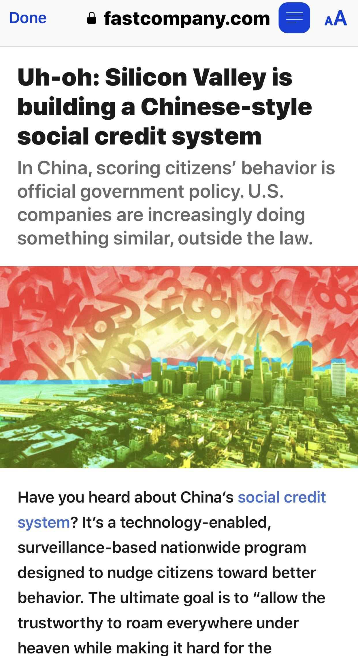 Beware Silicon Valley's Chinese-style social credit system