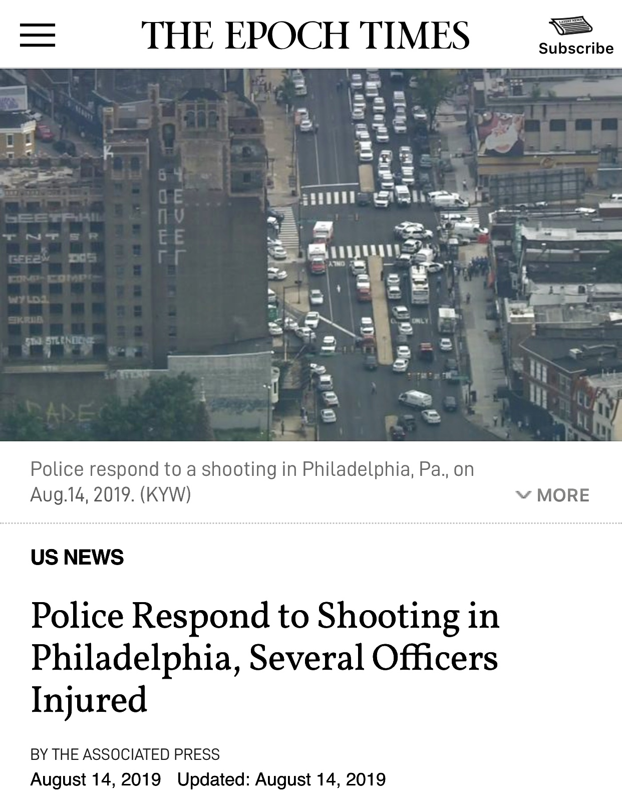 Breaking News: Shooting in Philadelphia, Looks Like An Ambush