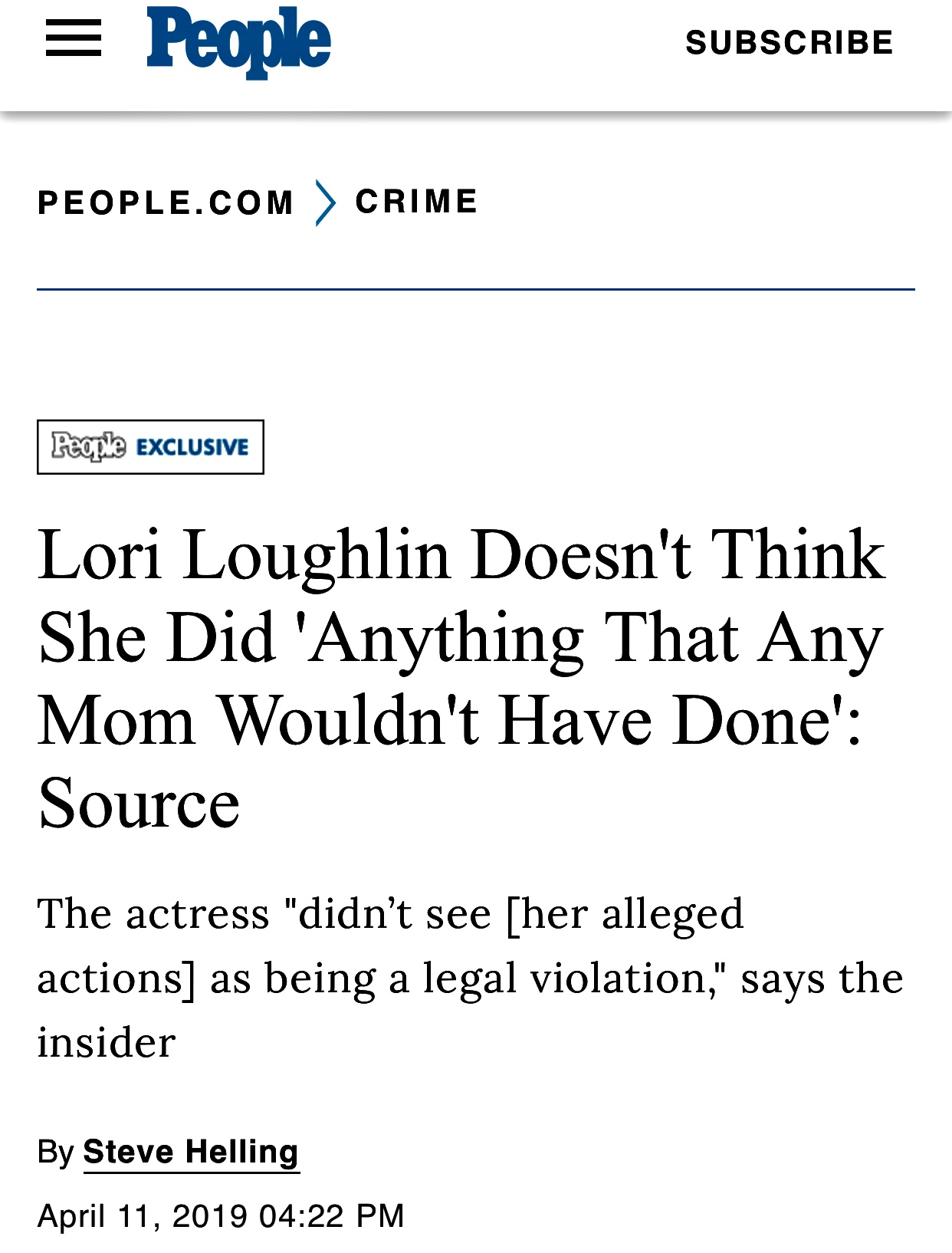 Lori Loughlin Thinks 'Any Mom' Would Have Done It: Source   PEOPLE.com