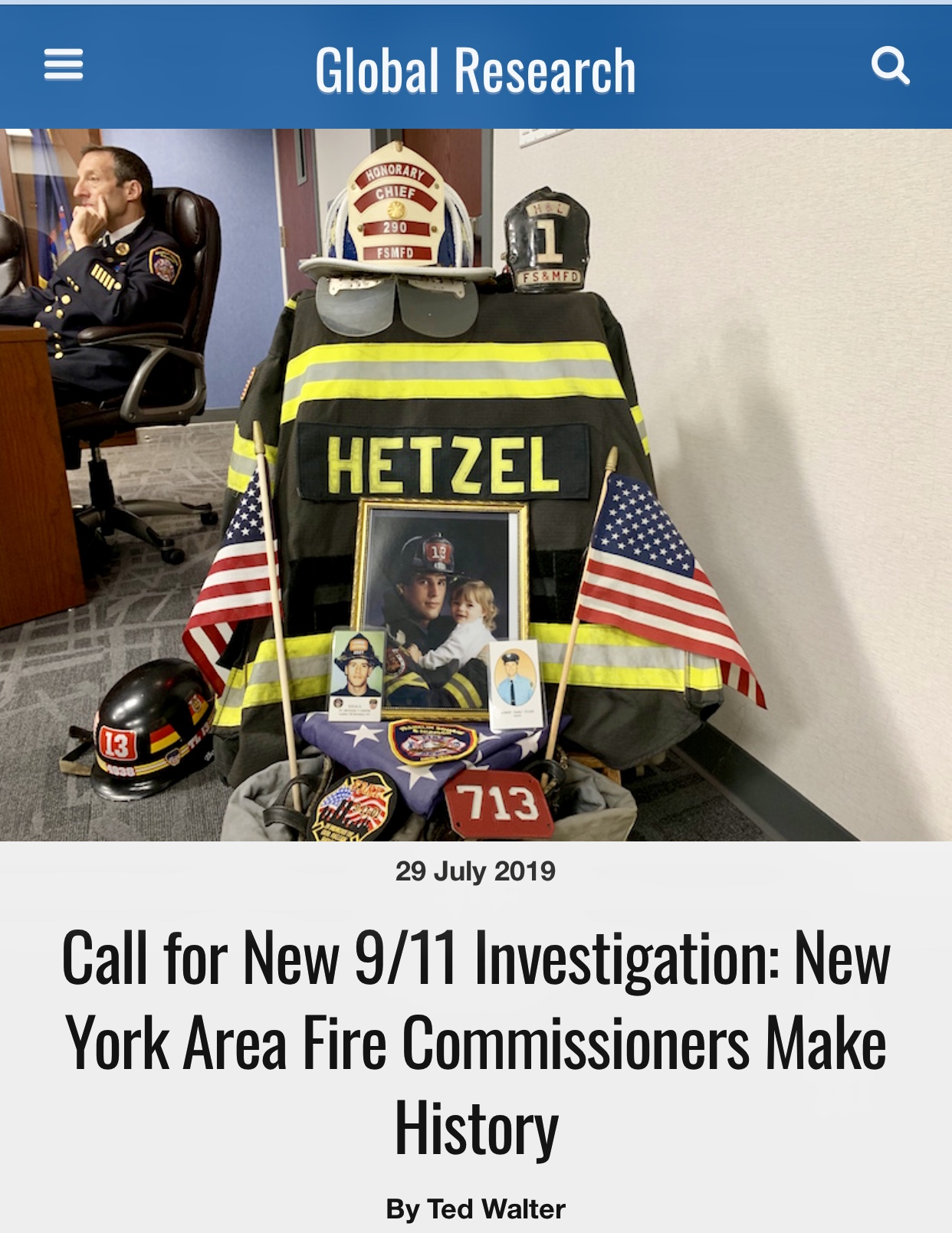 Call for New 9/11 Investigation: New York Area Fire Commissioners Make History – Global Research