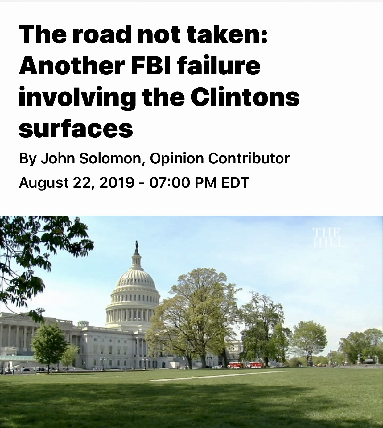 Another FBI failure involving the Clintons surfaces   TheHill