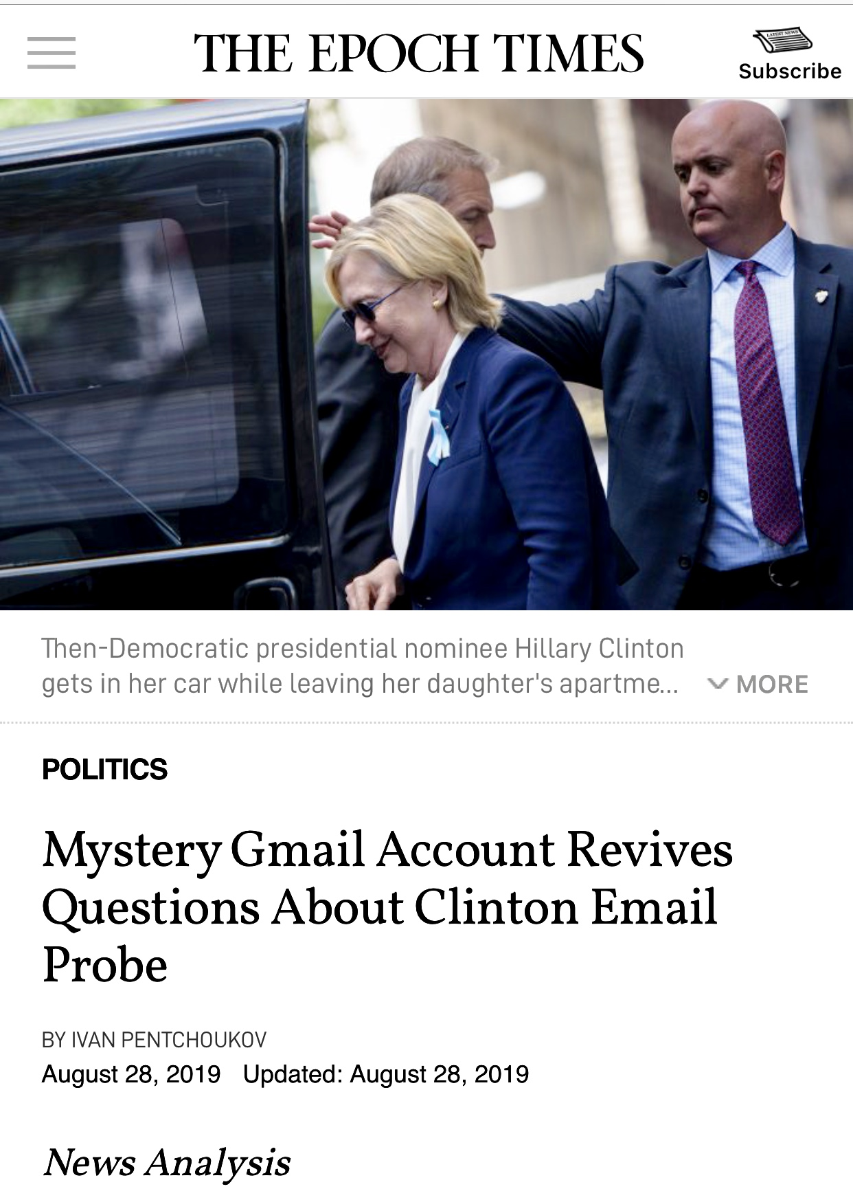 Mystery Gmail Account Revives Questions About Clinton Email Probe