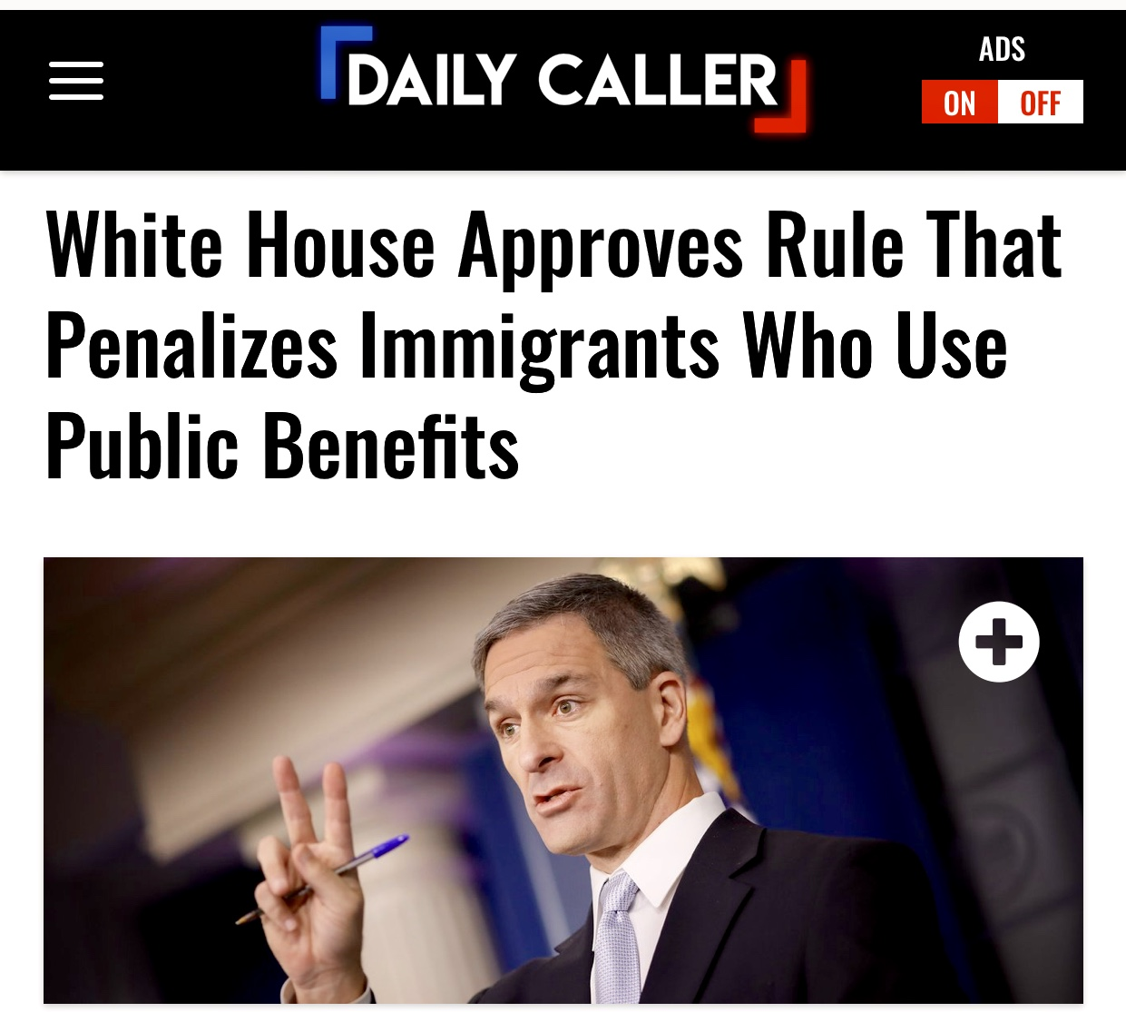 White House Approves Rule That Penalizes Immigrants Who Use Public Benefits | The Daily Caller