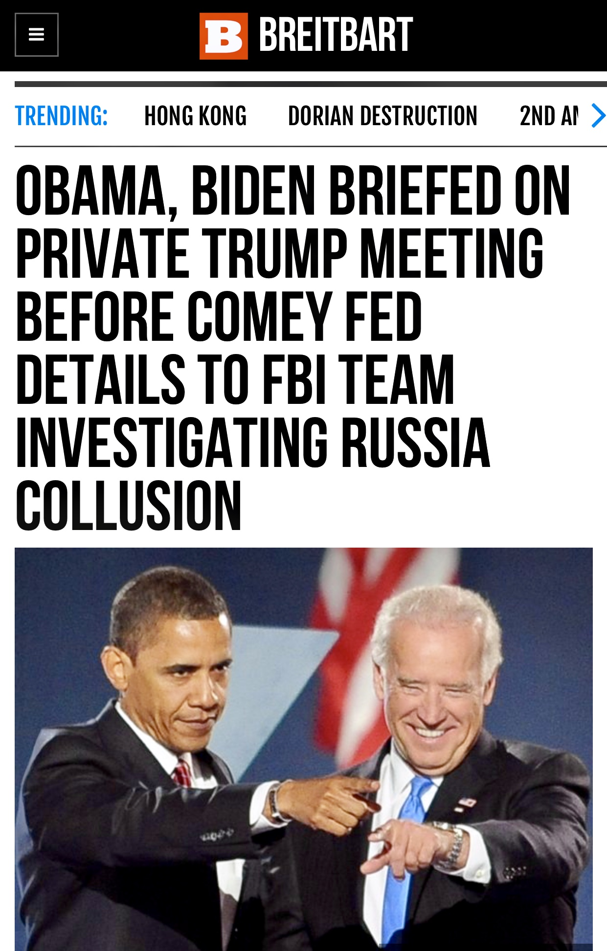 Obama & Biden Briefed on President Trump Mtg Before Comey Fed Details to FBI Team