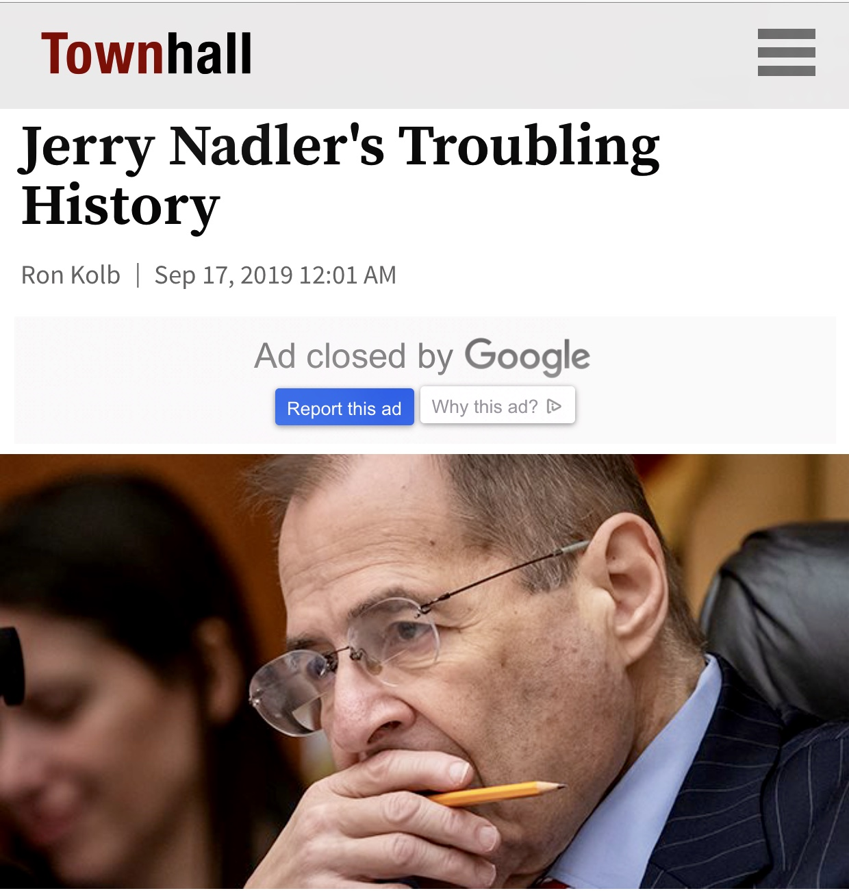 Jerry Nadler's Troubling History