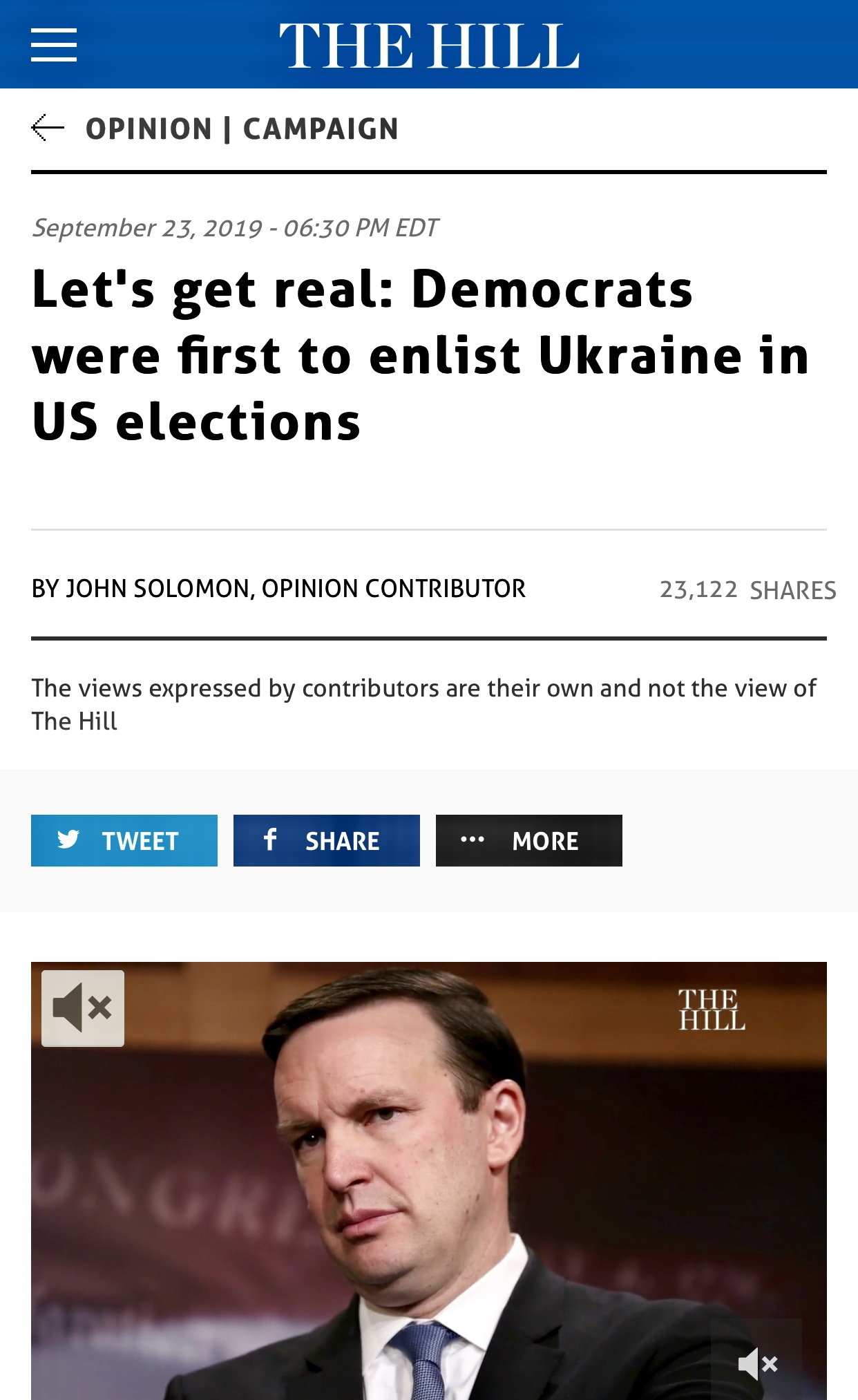 Democrats were first to enlist Ukraine in US elections