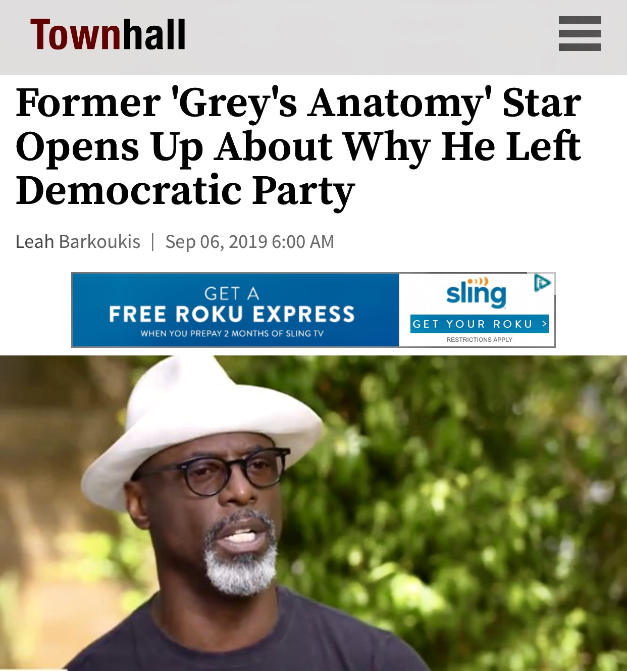 Former 'Grey's Anatomy' Star Opens Up About Why He Left Democratic Party