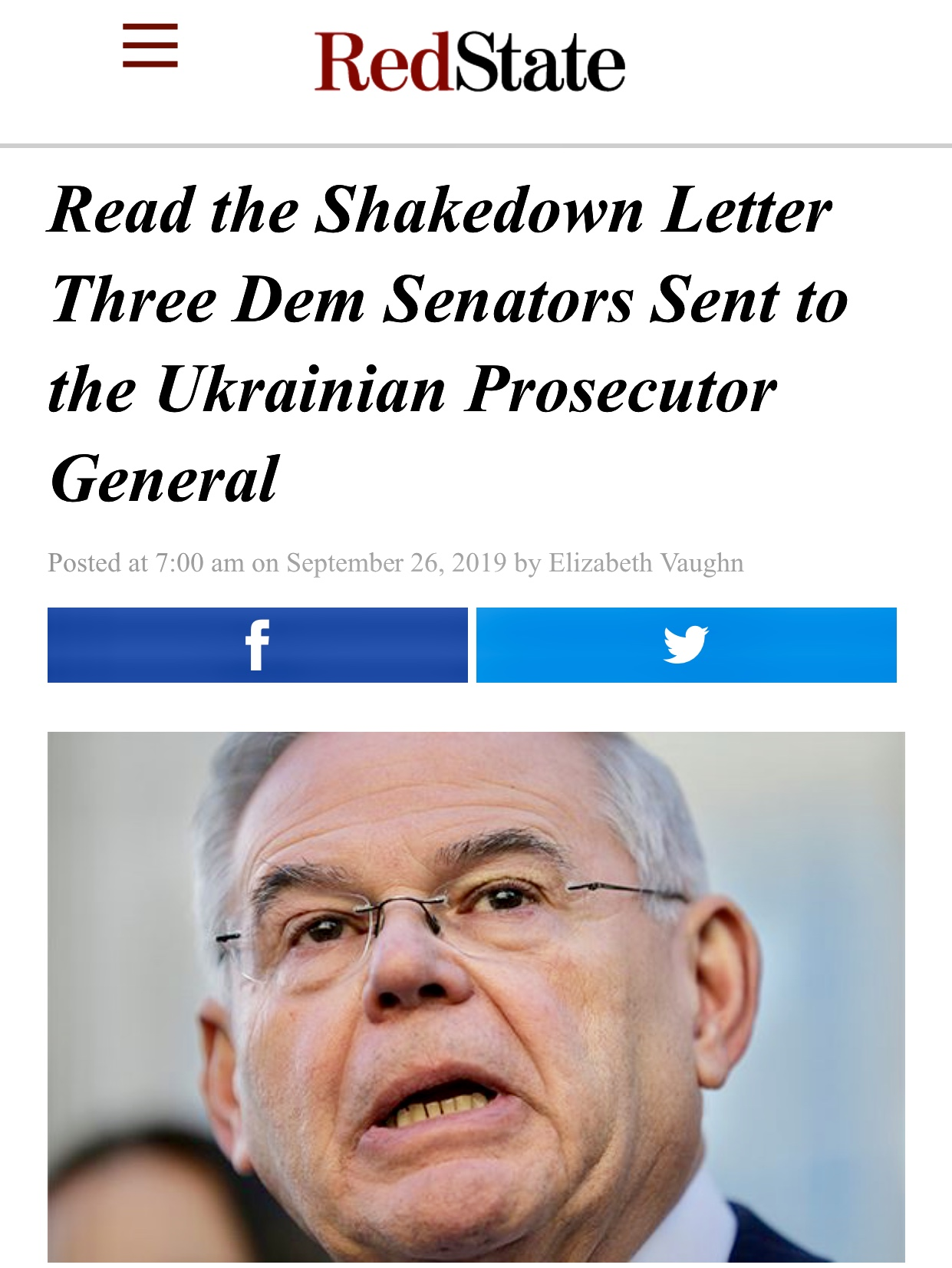 Read the Shakedown Letter Three Dem Senators Sent to the Ukrainian Prosecutor General