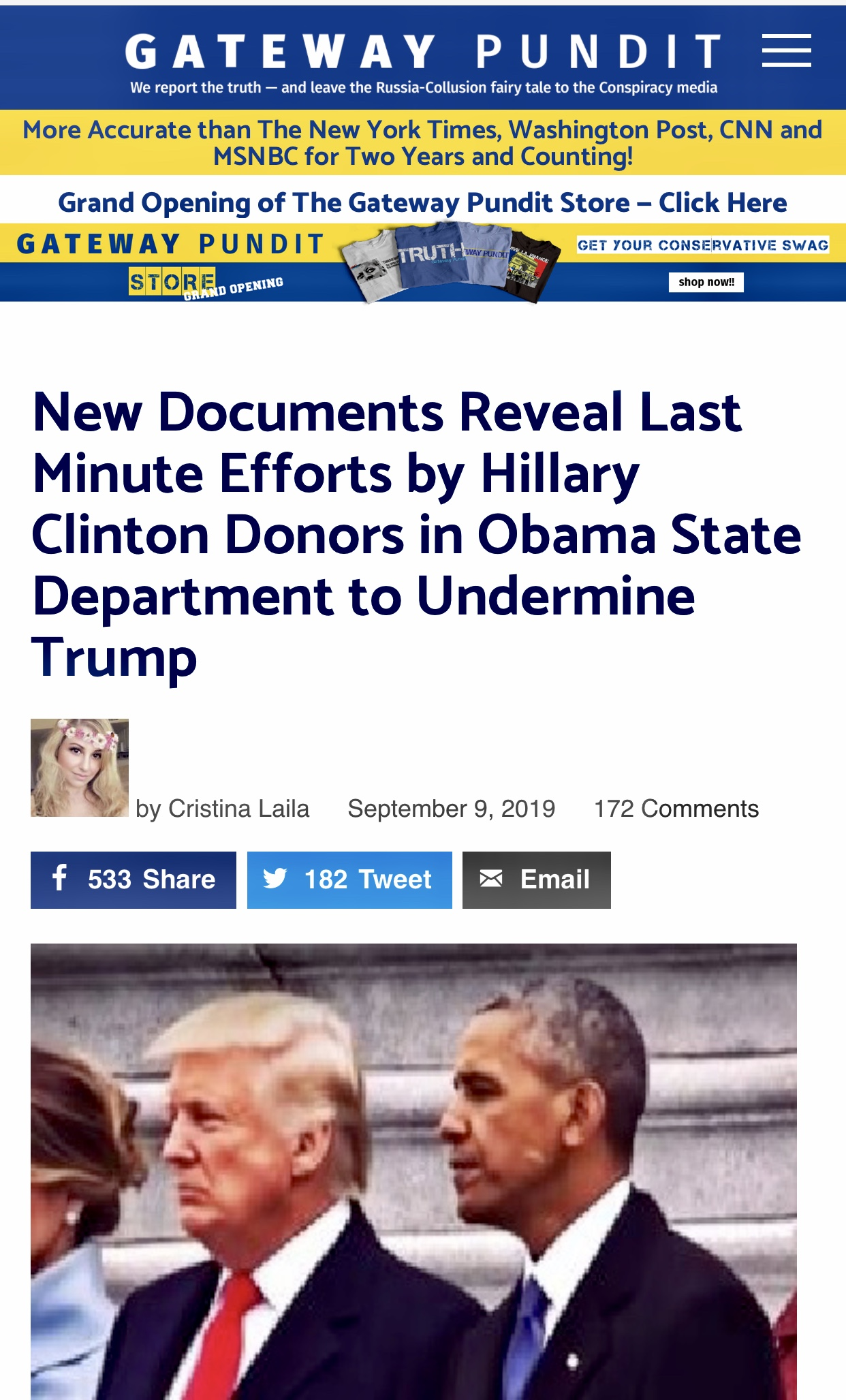 New Documents Reveal Last Minute Efforts by Hillary Clinton Donors in Obama State Department to Undermine Trump
