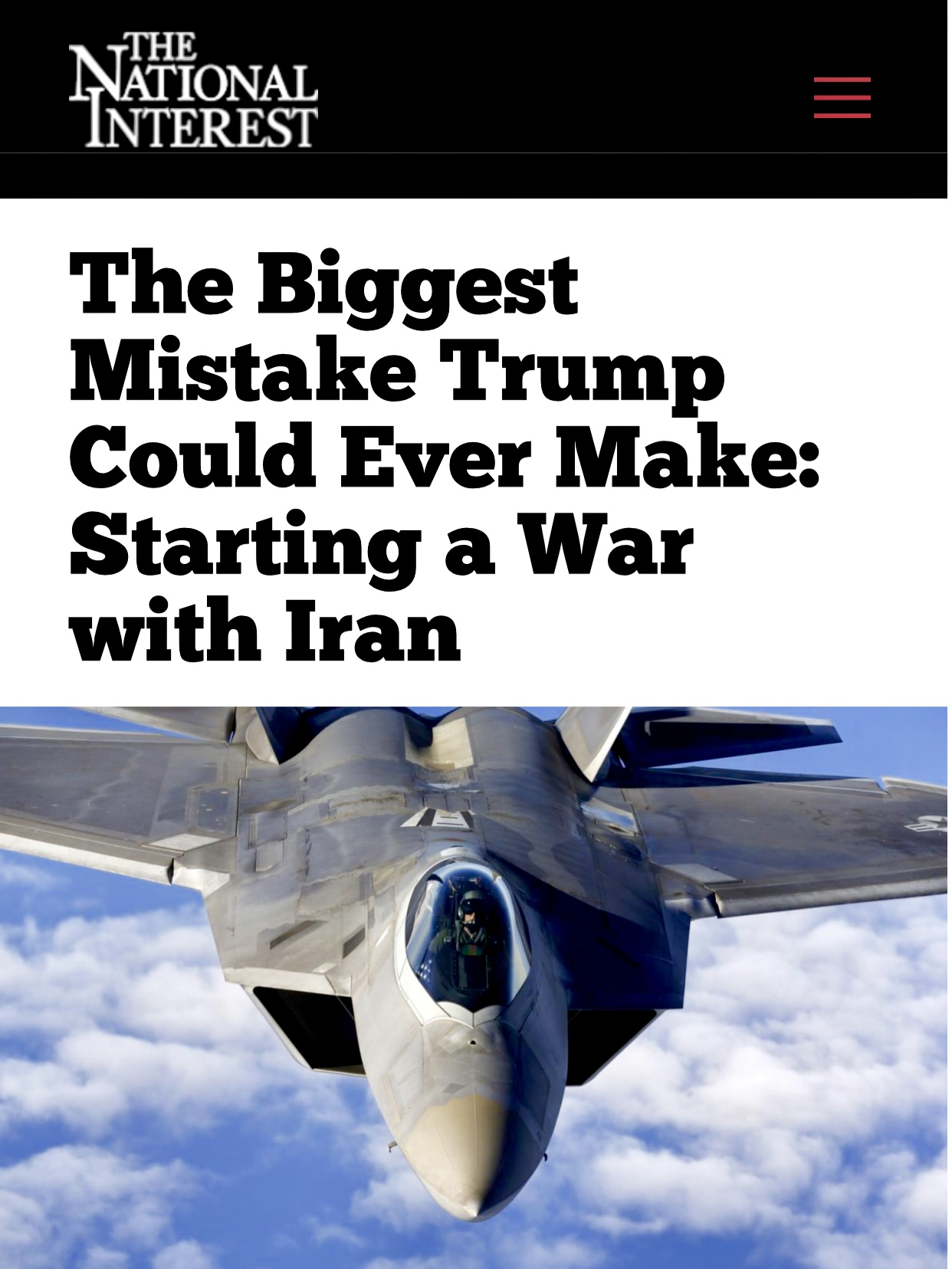 Could It Be Biggest Mistake To Start a War with Iran