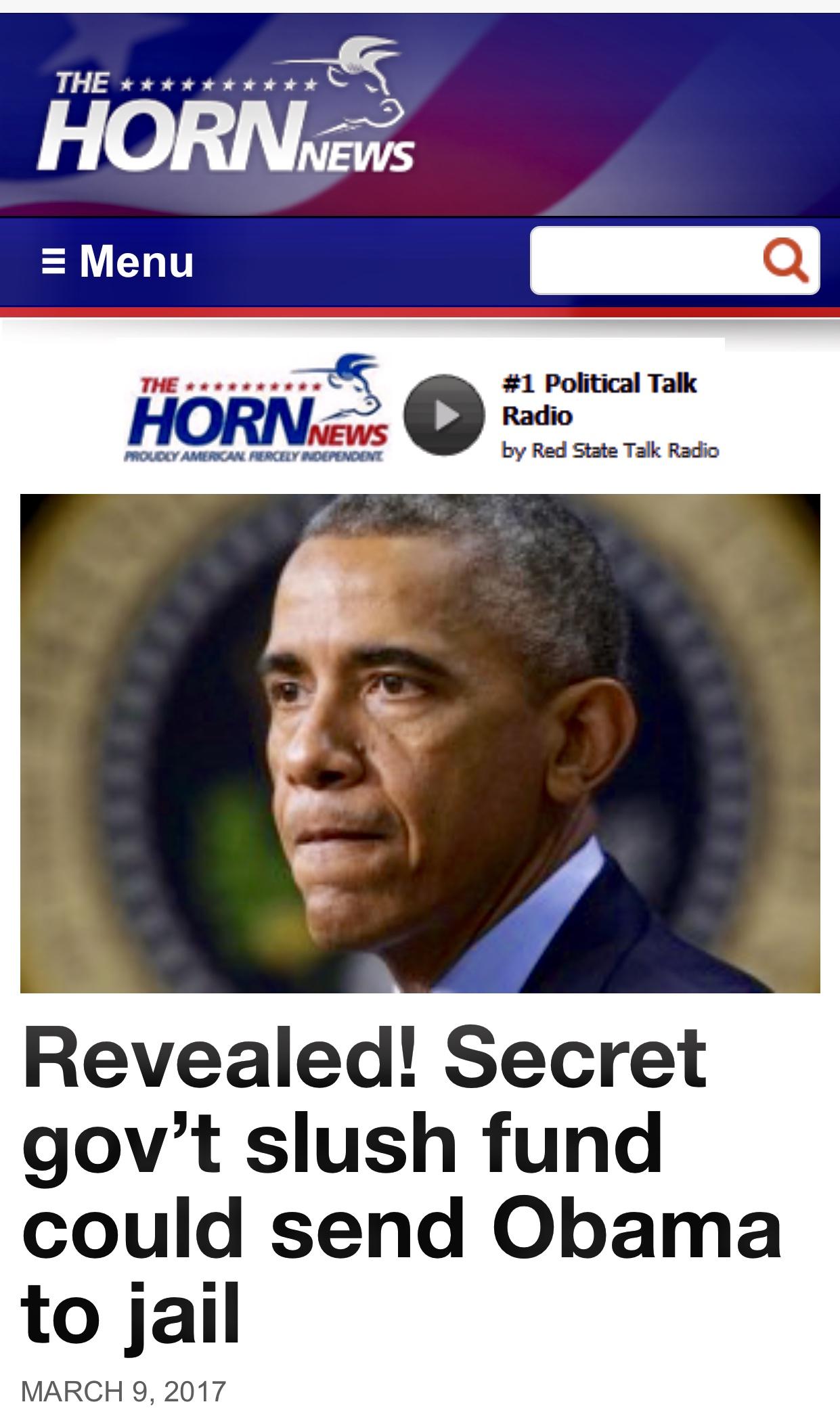 Secret Govt Slush Fund Could Send Obama to Jail