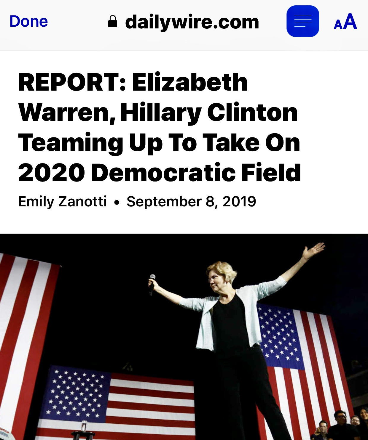 REPORT: Elizabeth Warren, Hillary Clinton Teaming Up To Take On 2020 Democratic Field | Daily Wire