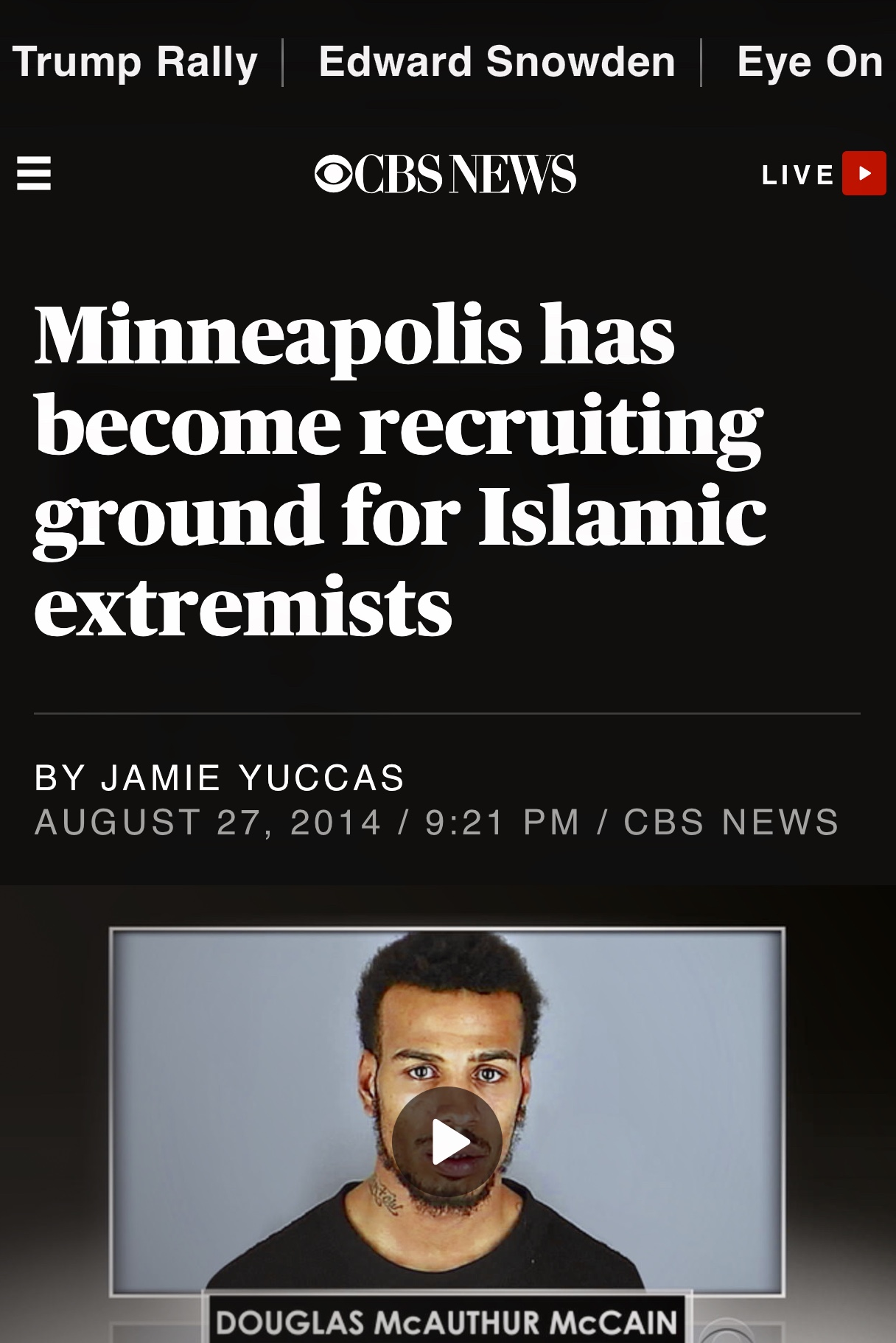 Minneapolis has become recruiting ground for Islamic extremists – CBS News