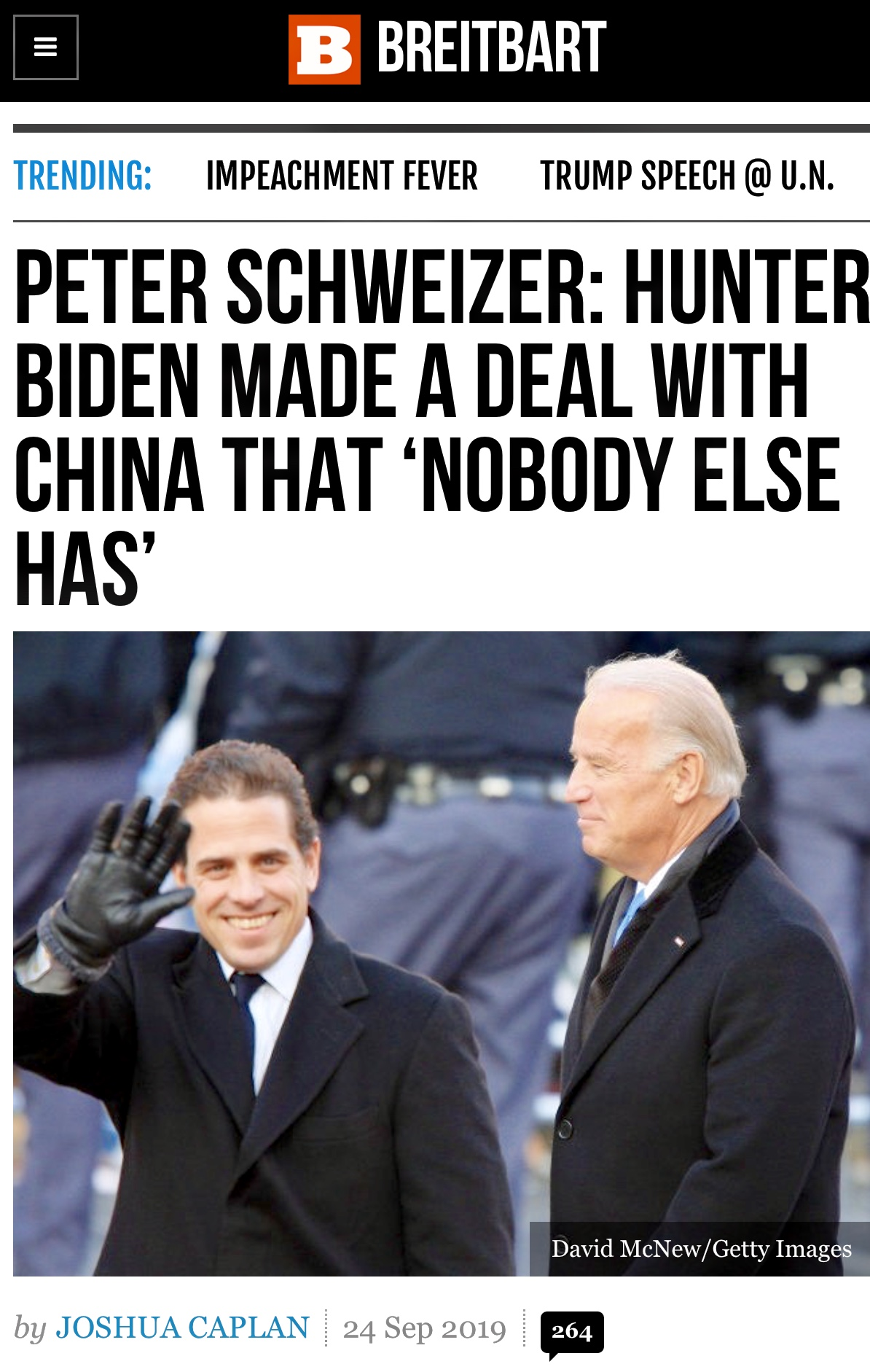 Schweizer: Hunter Biden Made a Deal with China that 'Nobody Else Has'