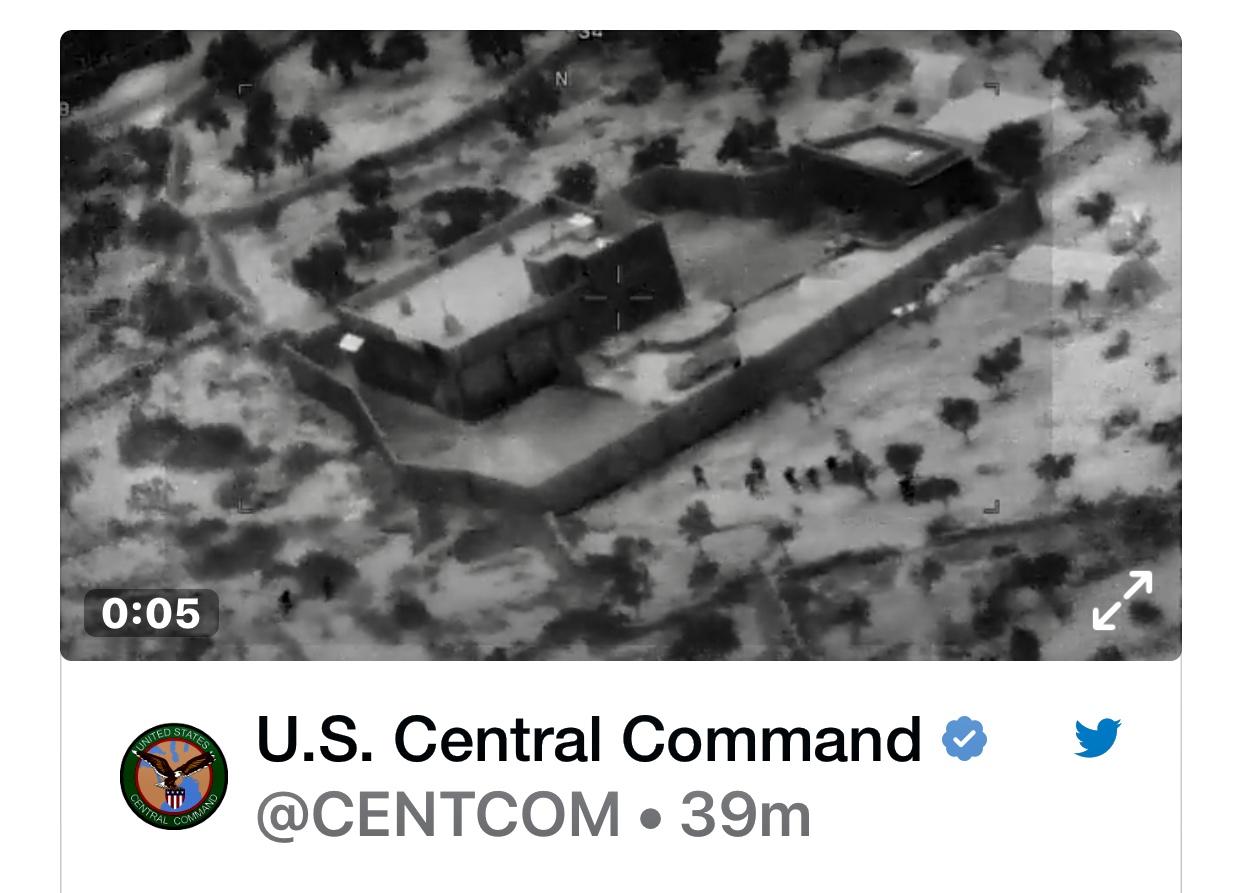 Pentagon Releases Video Of Raid of Abu Bakr al-Baghdadi