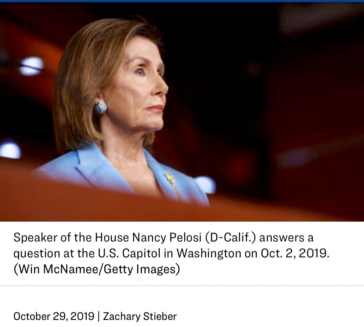 Pelosi's Ridiculous Impeachment Process Resolution WH Responds An Illegitimate Sham